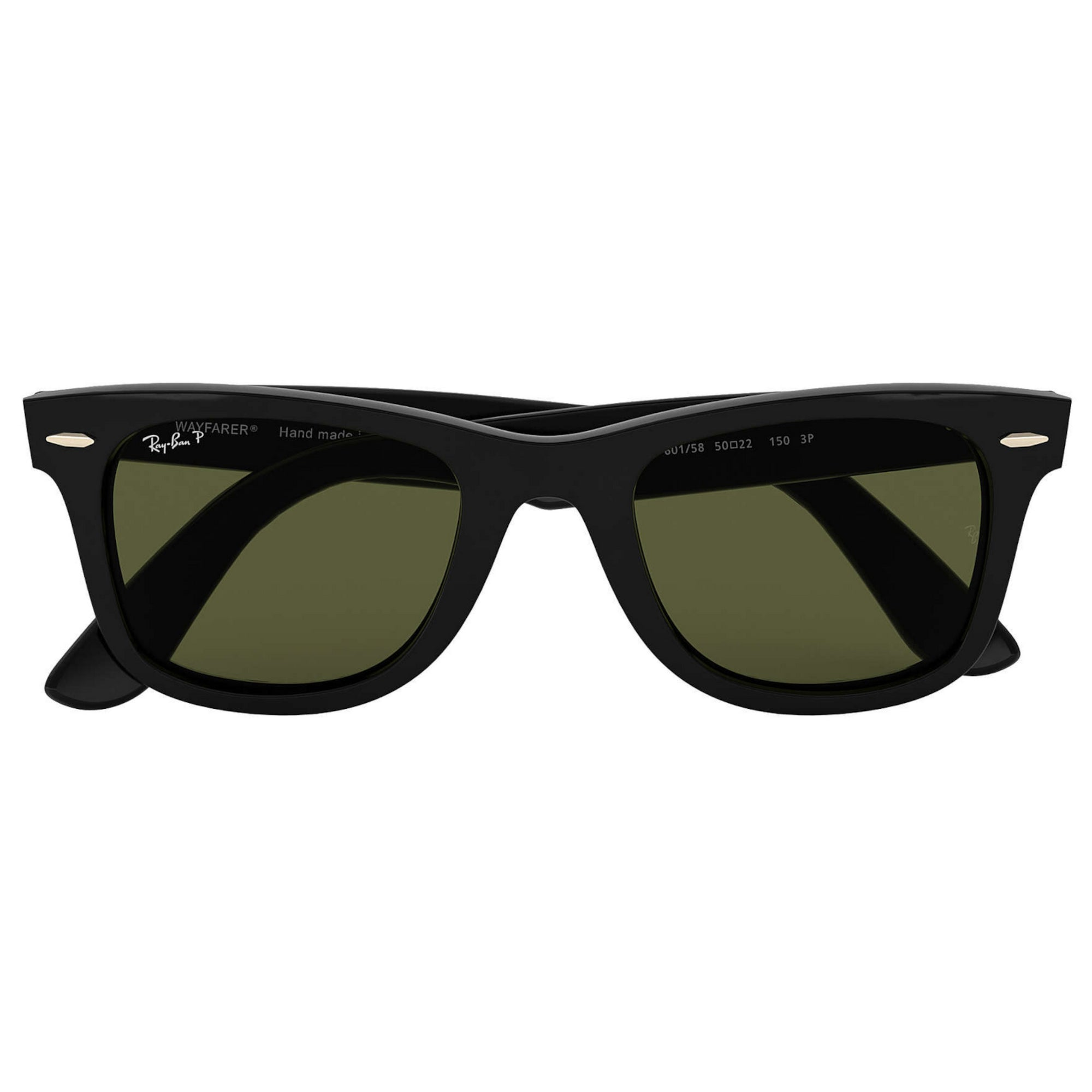 Ray-Ban Wayfarer Ease Men's Sunglasses - Black Frame/Green Lens