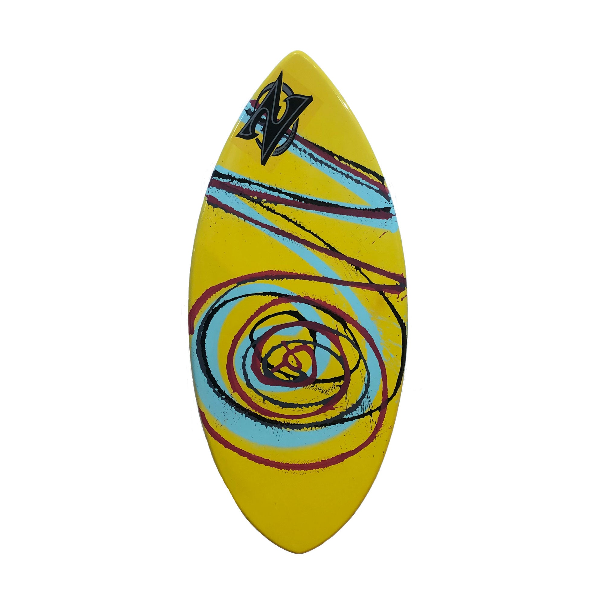 "Zap 45"" Wedge Skimboard - Yellow / Purple Swirl"