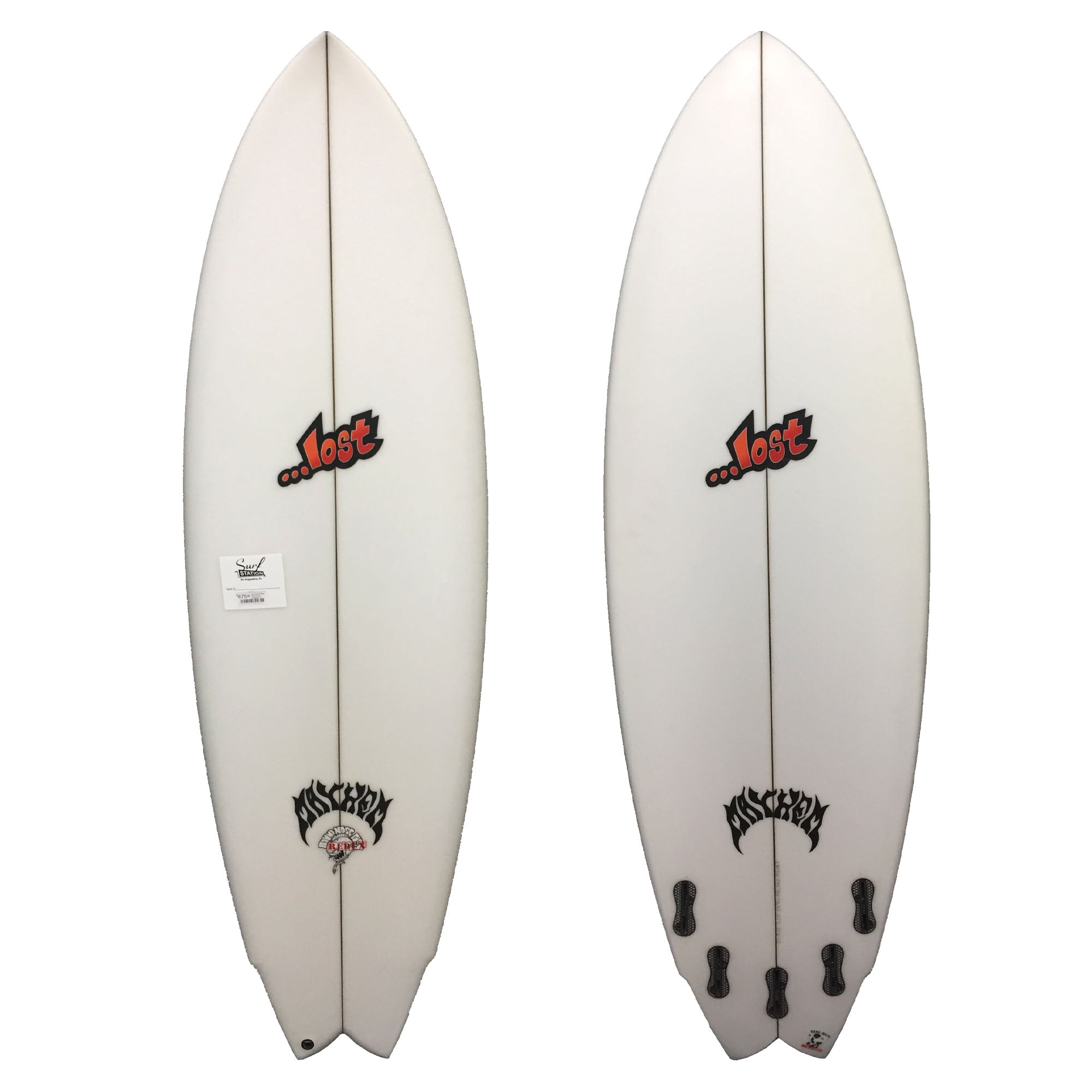 Lost Round Nose Fish Redux Surfboard - FCS II