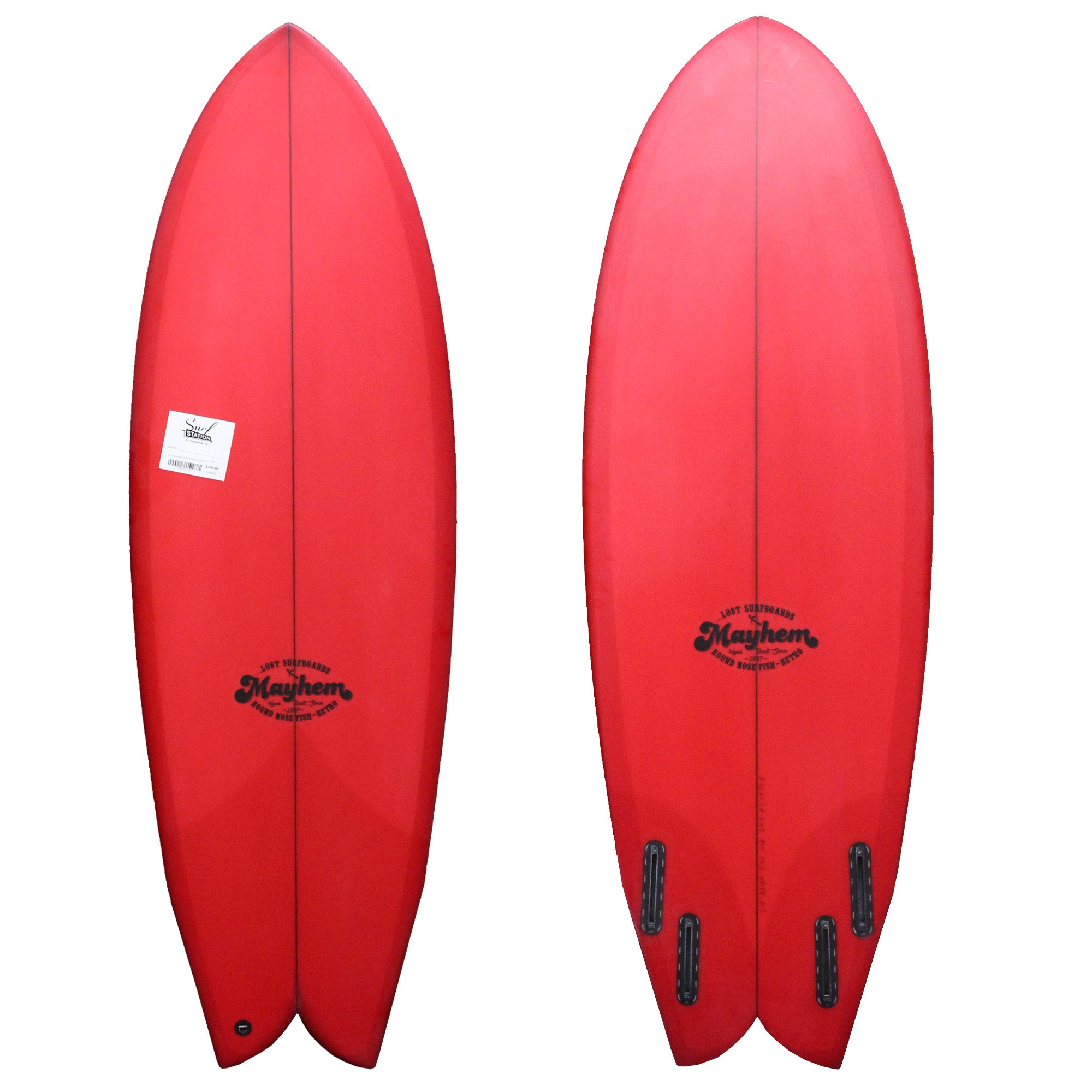 Lost Round Nose Fish Retro Surfboard - Futures