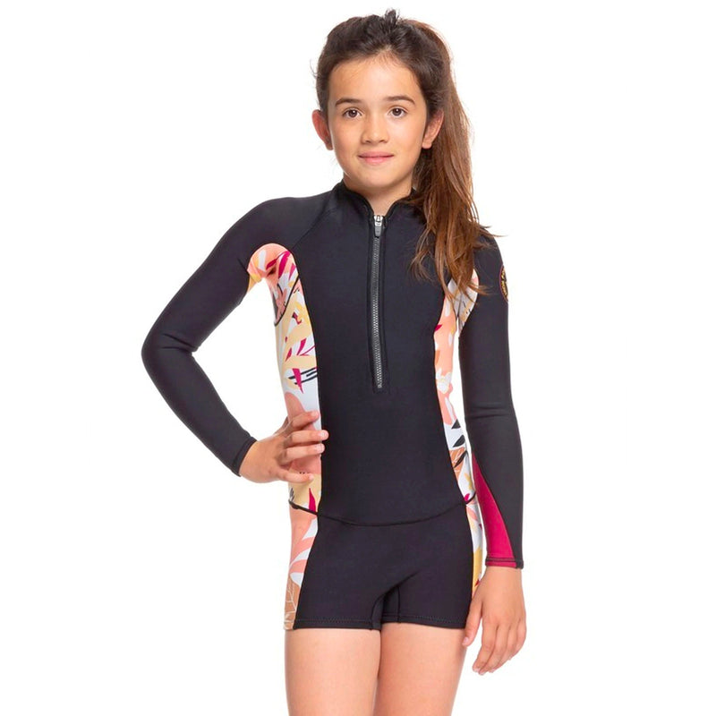 Roxy POP Surf 1.5mm Youth Girl's L/S Springsuit Wetsuit