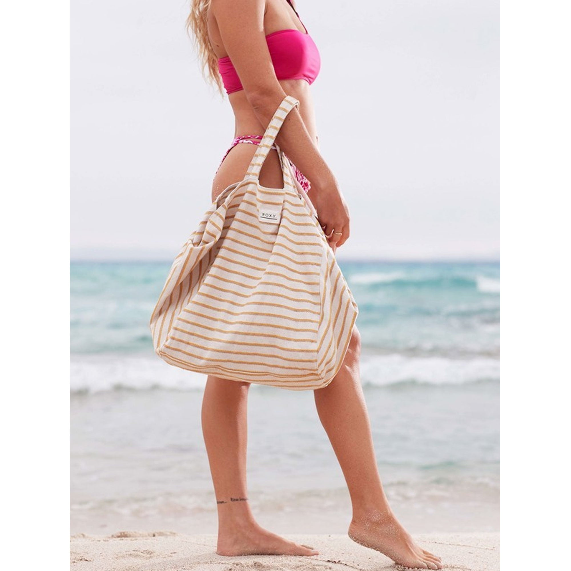 Roxy Time is Now 3L Hemp Canvas Tote Bag