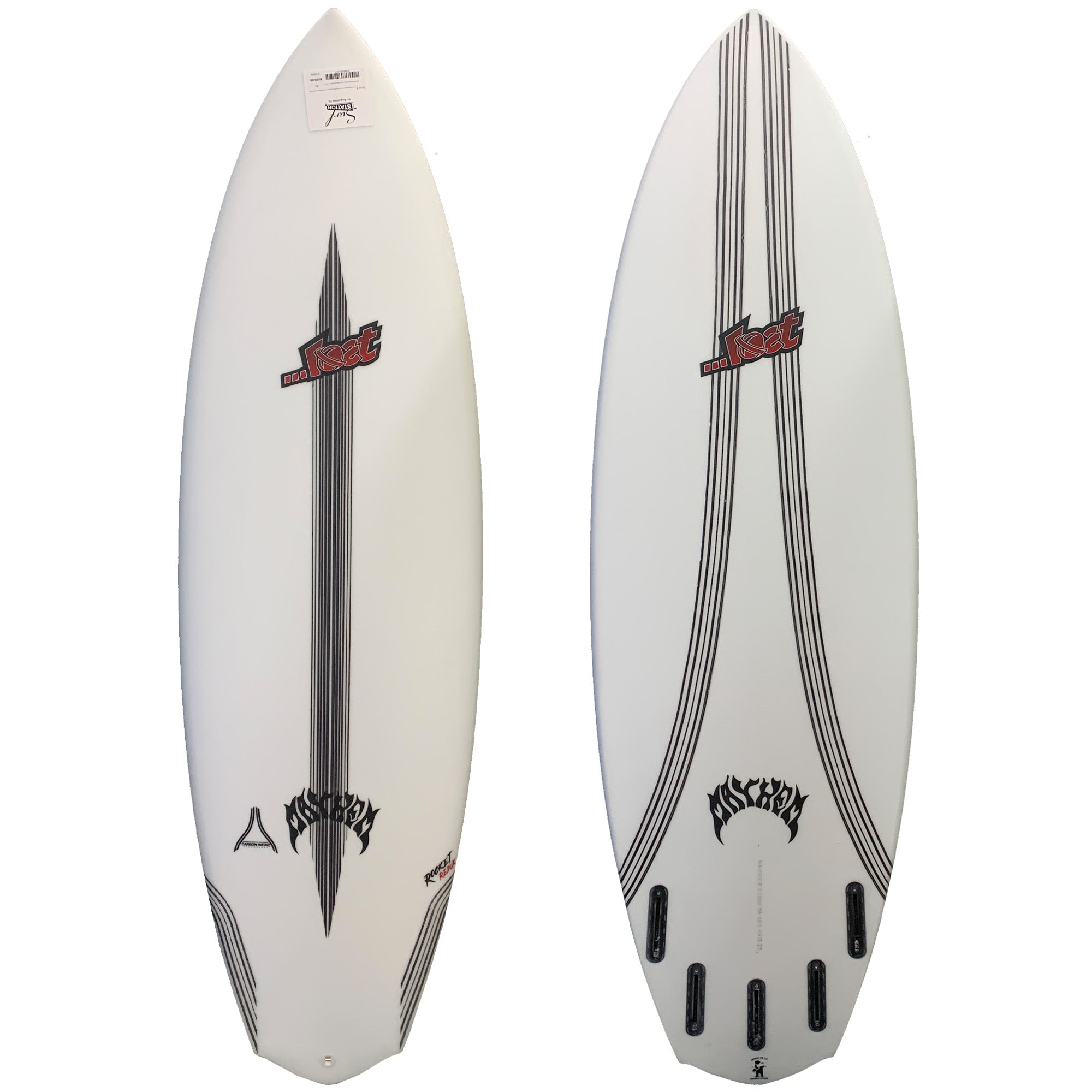Lost Rocket Redux Wide Carbon Wrap Surfboard - Futures