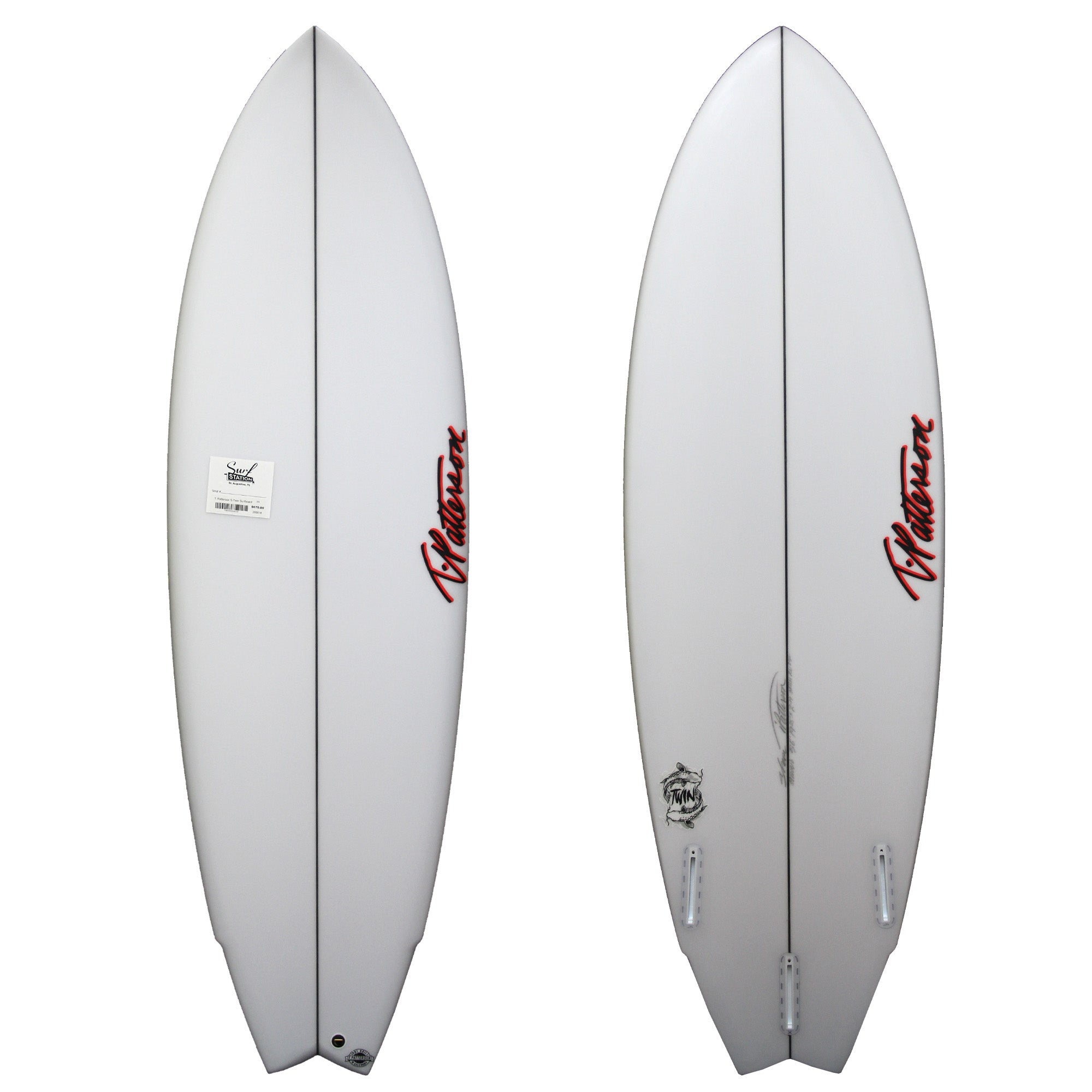 T. Patterson S-Twin Surfboard - Futures