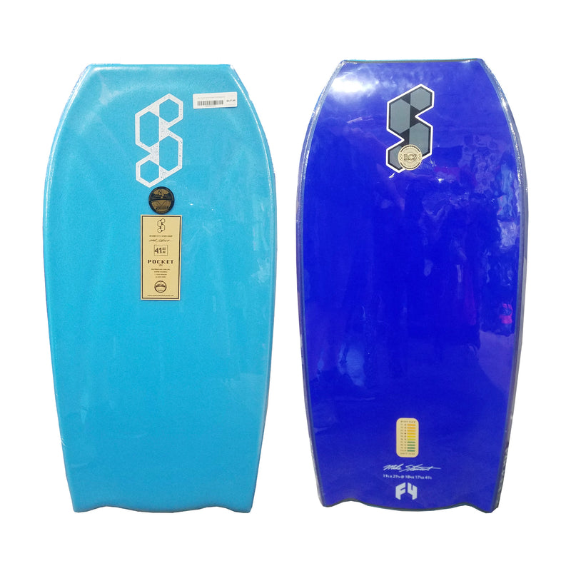 "Mike Stewart Science Pocket LTD BT 41.5"" Bodyboard - Aqua/Dark Blue"