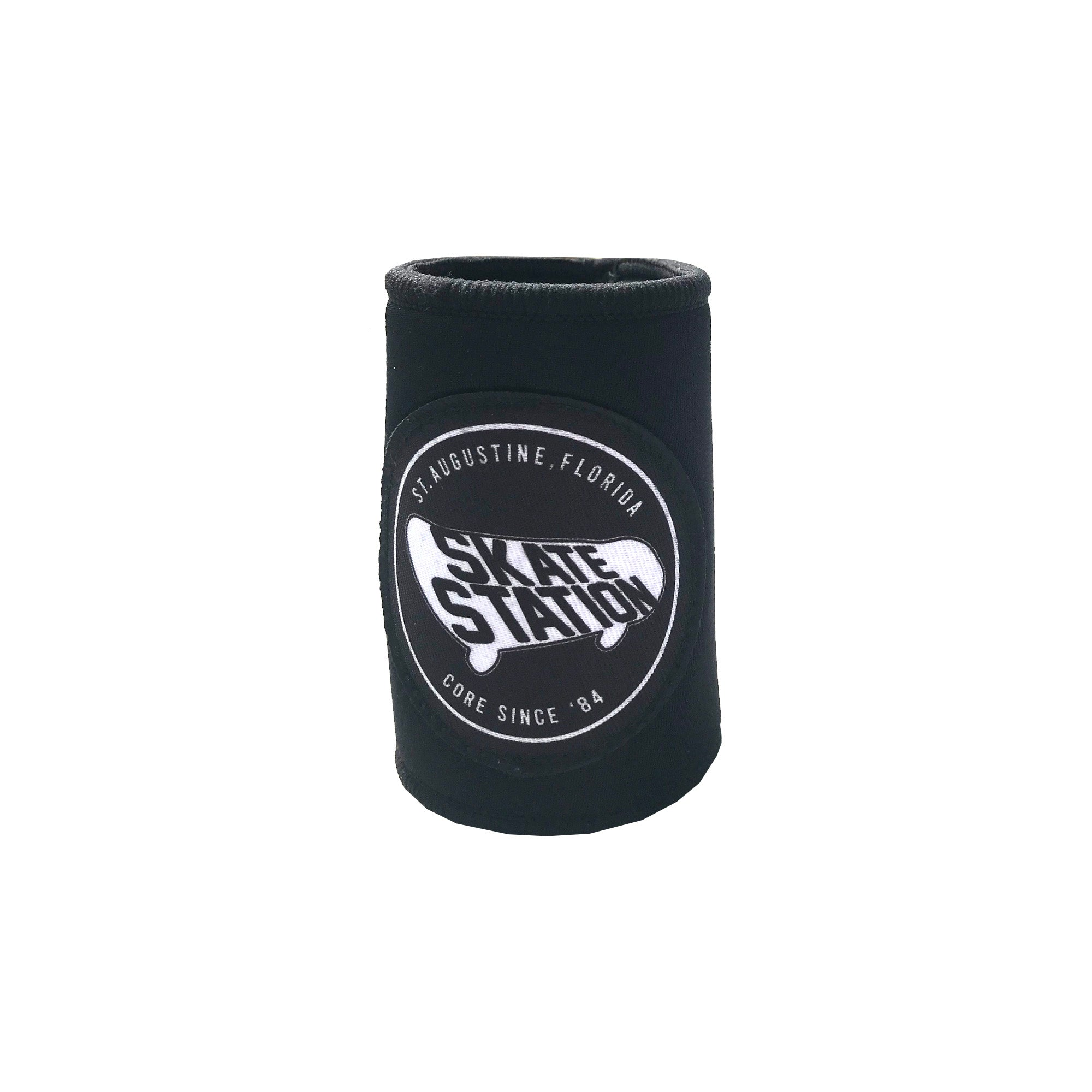 Surf Station Skate Cruzie Neoprene Can Koozie Black