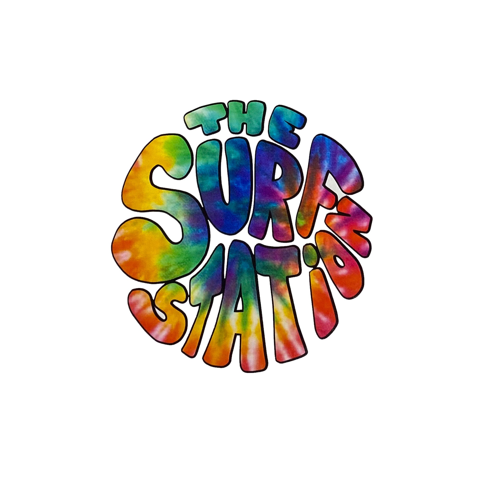 Surf Station Hippie Dye Cut Sticker