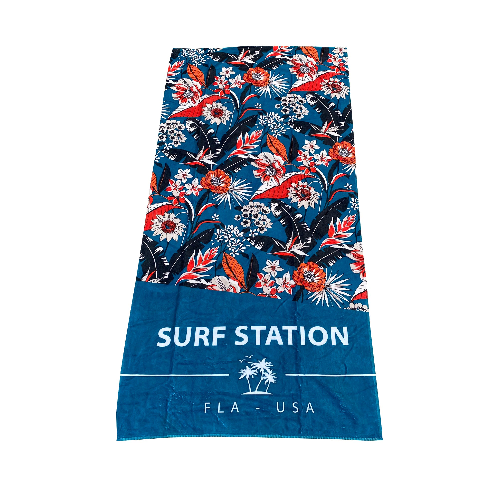 Surf Station Slant Six Beach Towel - August