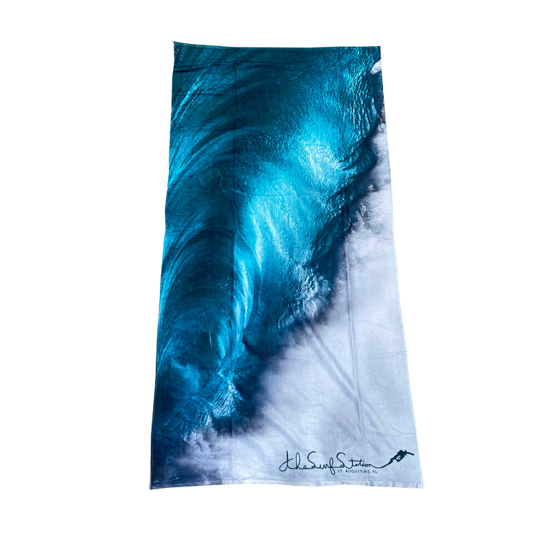 Surf Station Slant Six Beach Towel - Backside