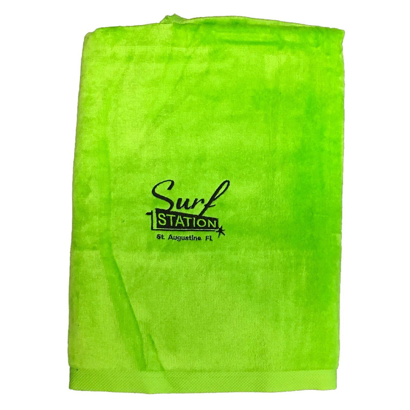 Surf Station Classic Colors Towel - Lime