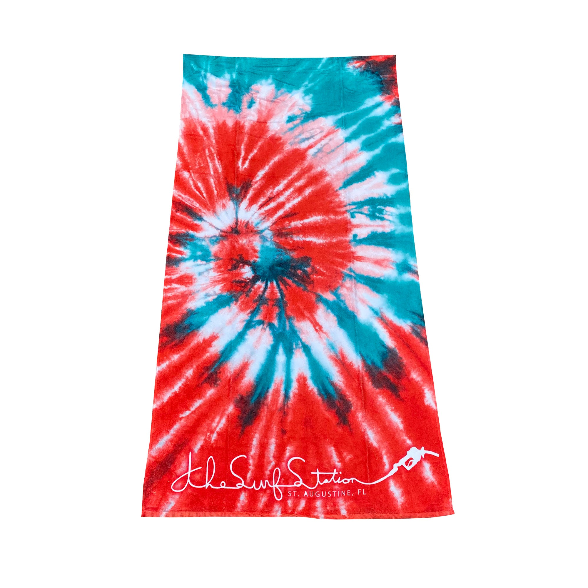 Surf Station Slant Six Beach Towel - Red