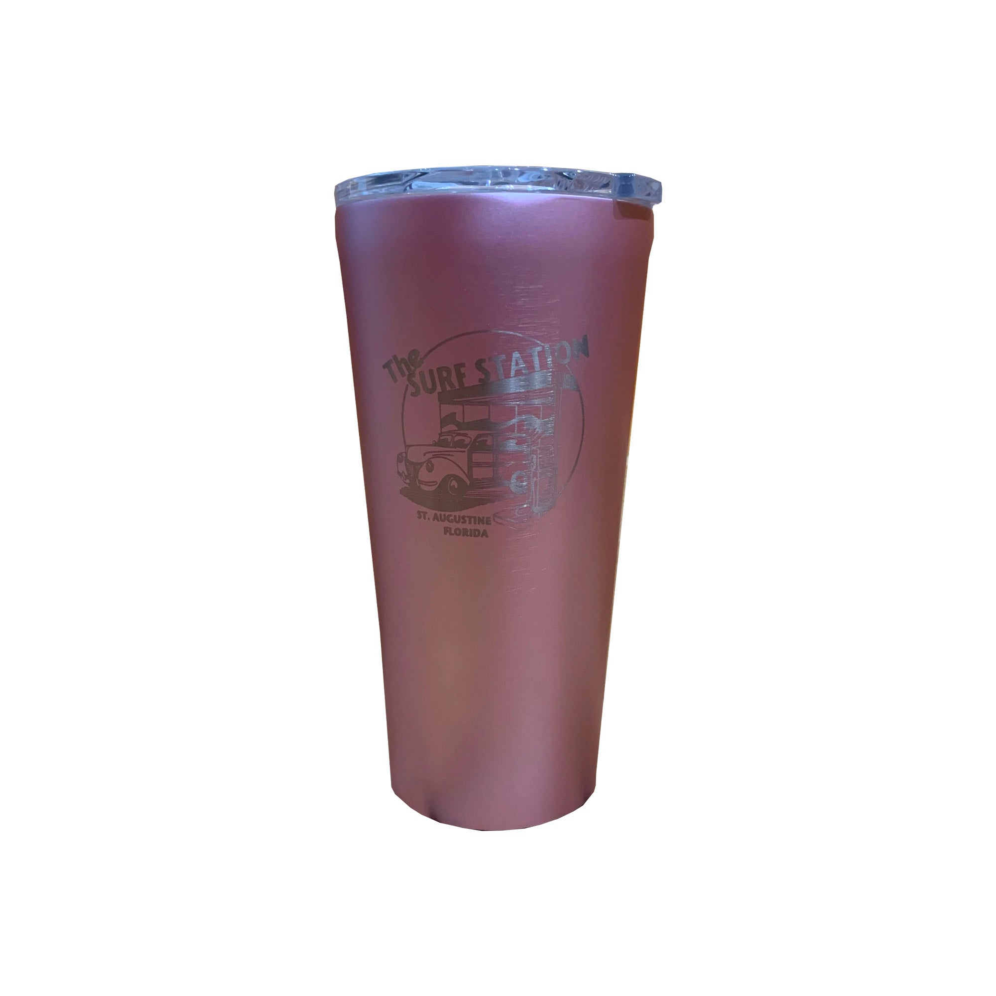 Surf Station Tumbler 16oz Cup - Rose Metallic