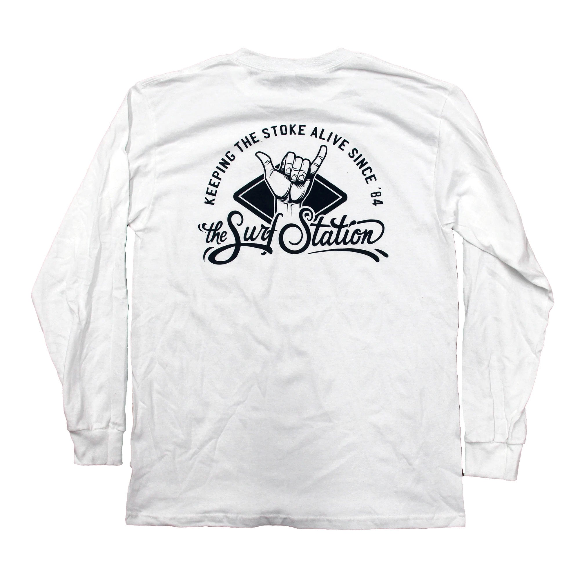 Surf Station Stoked Men's L/S T-Shirt