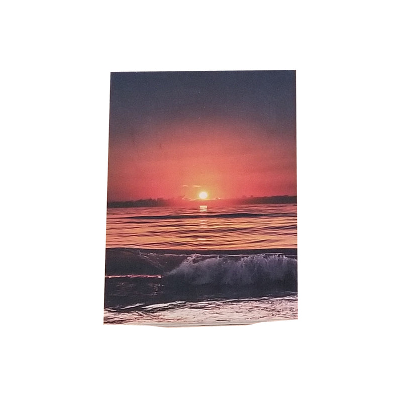 "Saint Augustine Beach Spring Sunrise Wood Print - 5"" x 7"""