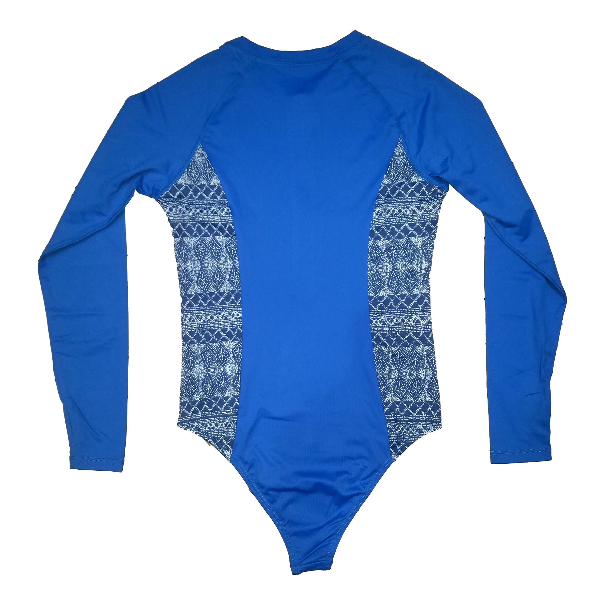 Surf Station Amalfi Women's One Piece L/S Rashguard - Blue