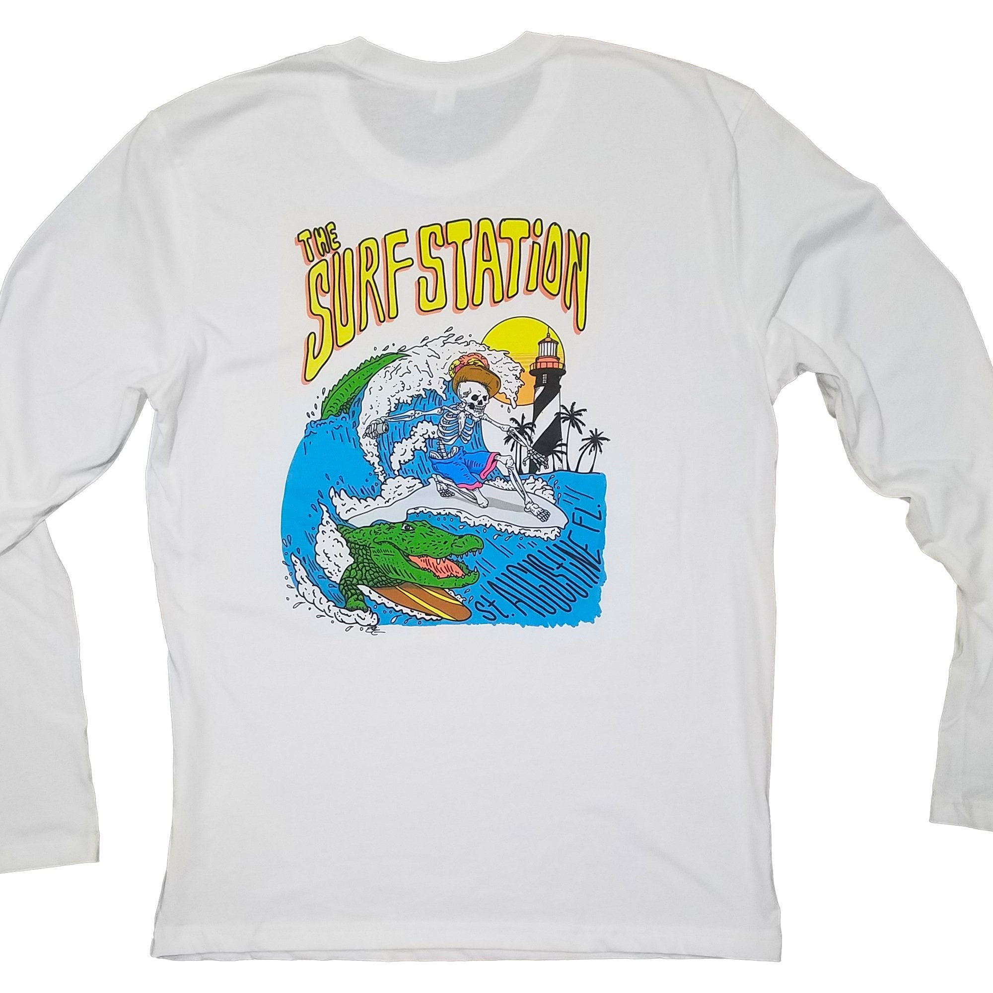 Surf Station Skeleton Gator Men's L/S T-Shirt