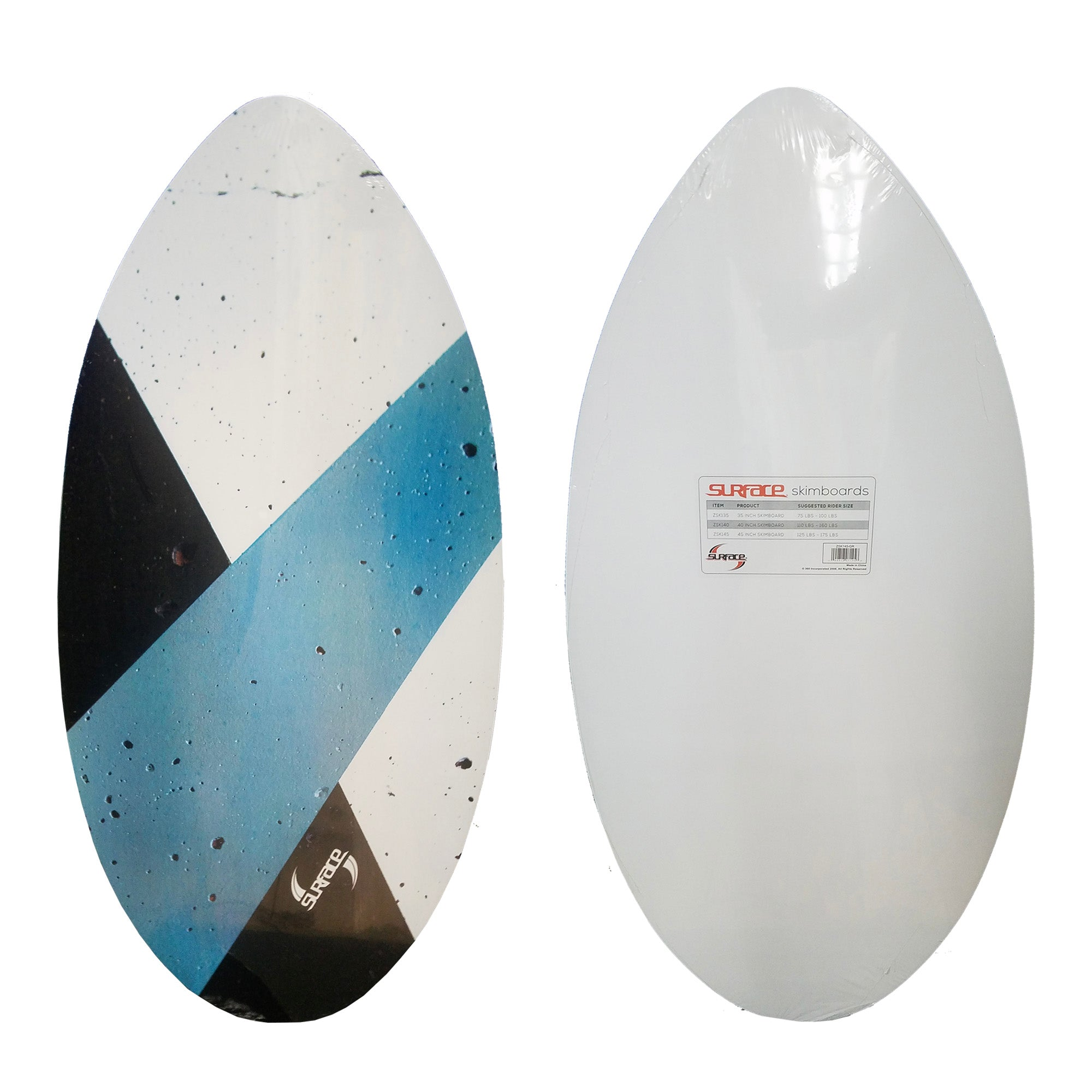 "Surface 45"" Wood Skimboard - Blue/White/Black"