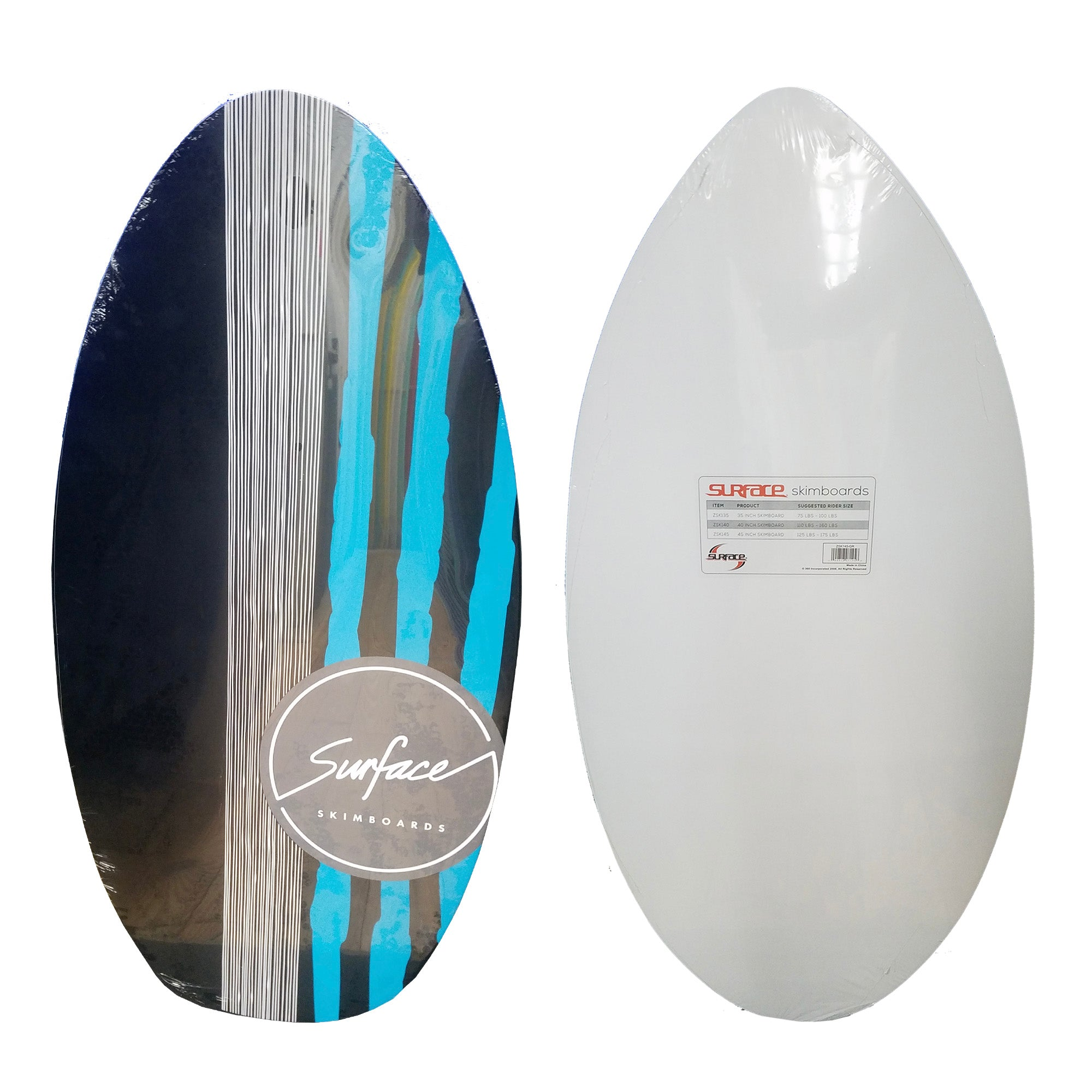 "Surface 40"" Wood Skimboard - Blue / Black"