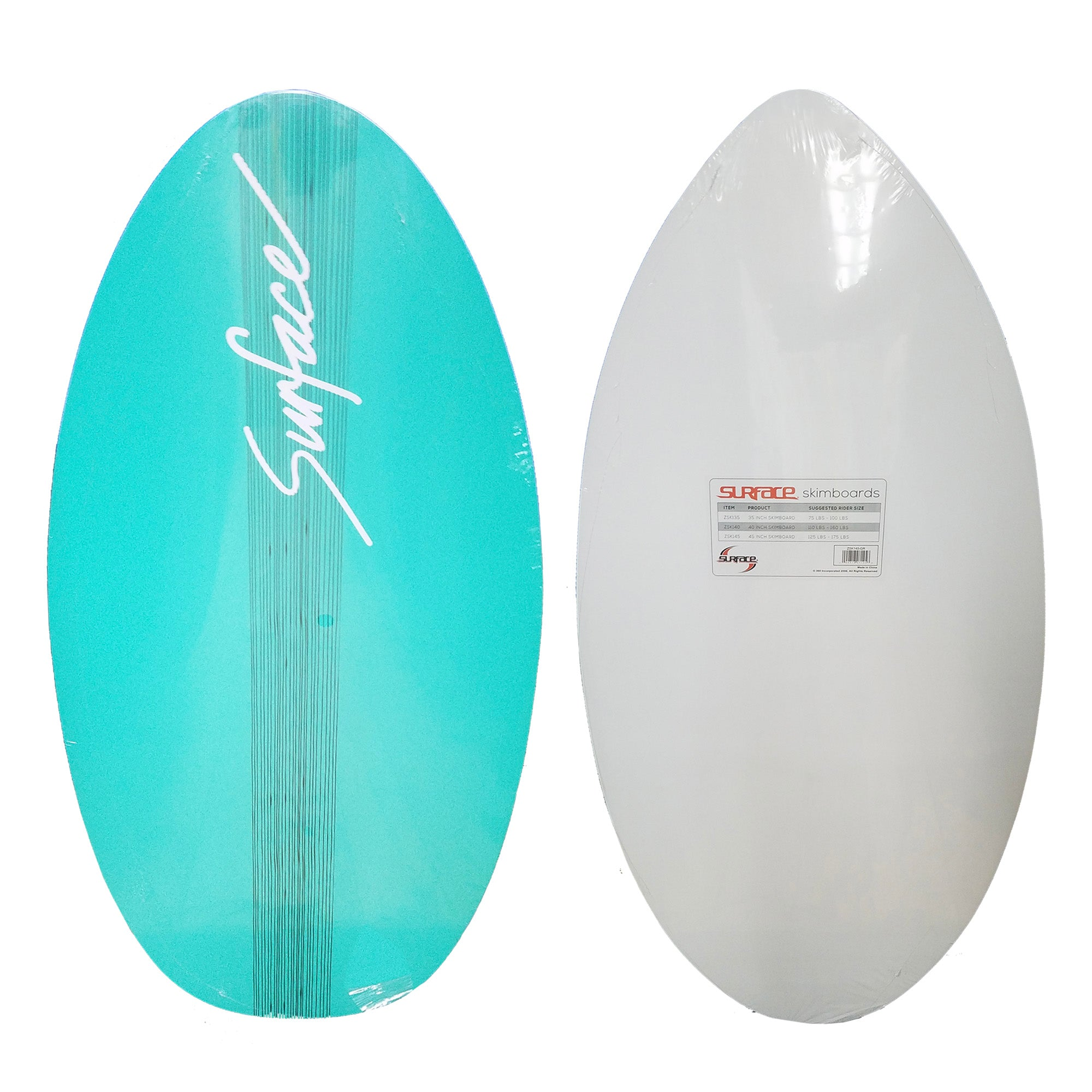 "Surface 40"" Wood Skimboard - Seafoam"