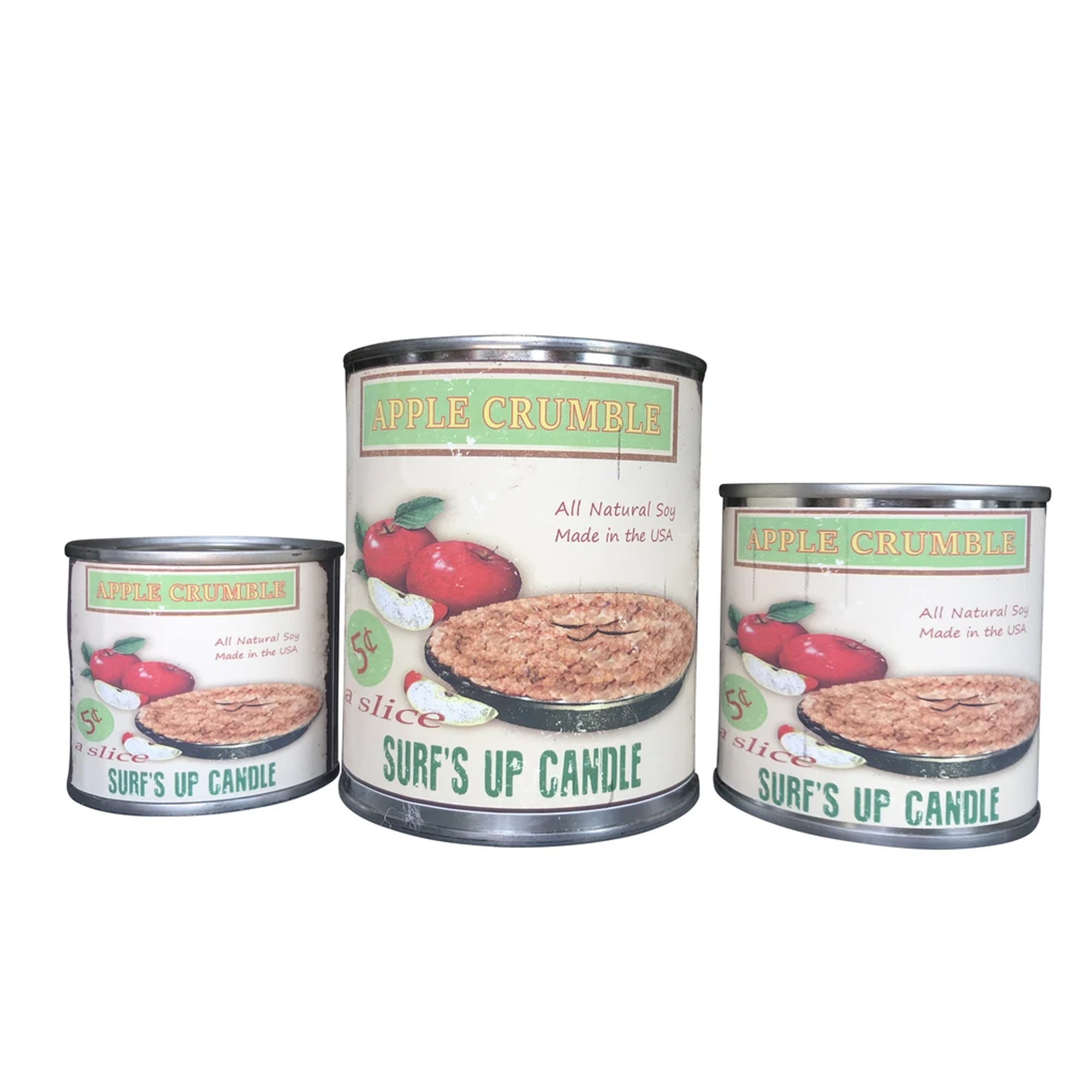 Surf's Up Seasonal Paint Can Soy Candle - Apple Crumble