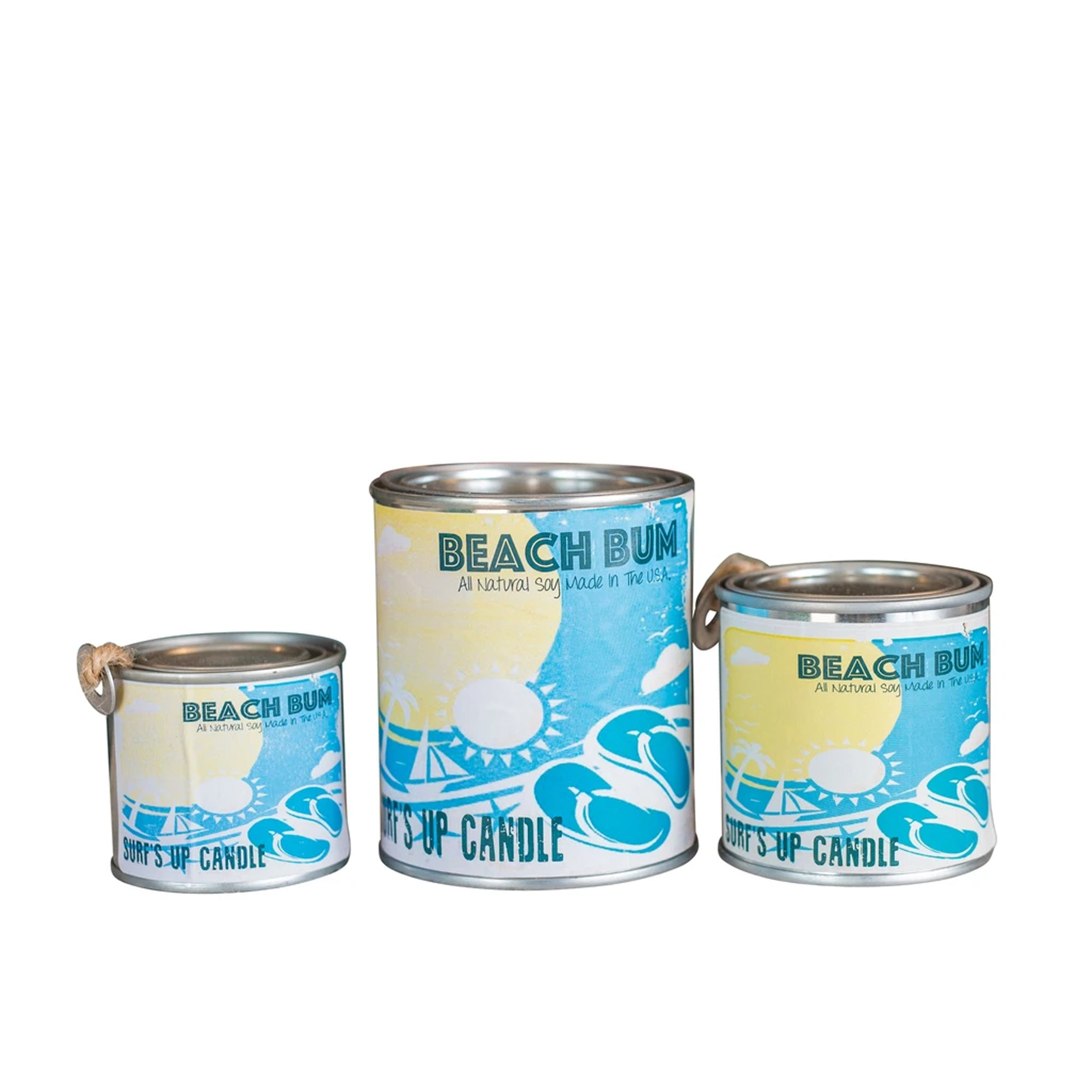 Surf's Up Paint Can Soy Candle - Beach Bum