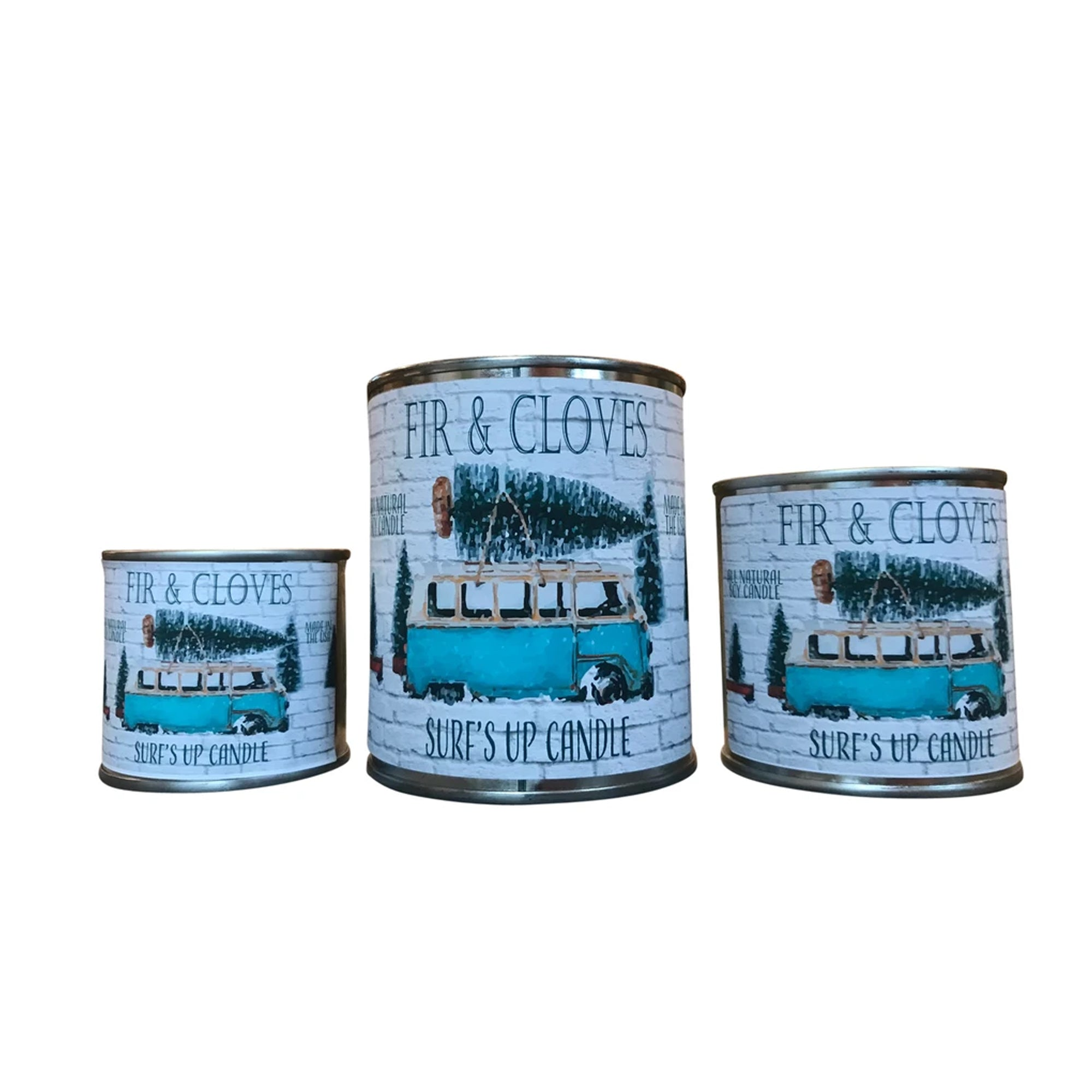 Surf's Up Seasonal Paint Can Soy Candle - Fir and Cloves