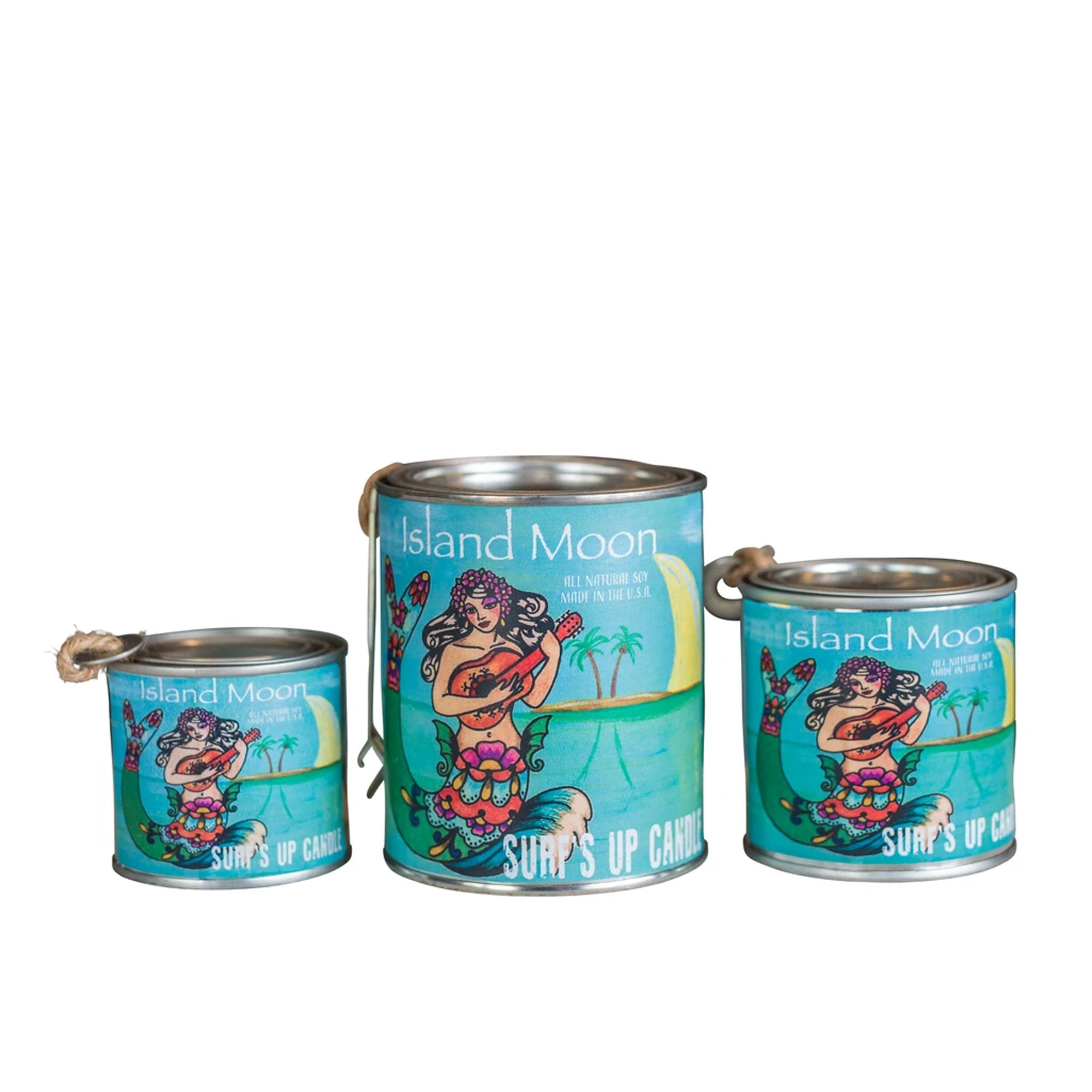 Surf's Up Paint Can Soy Candle - Island Moon