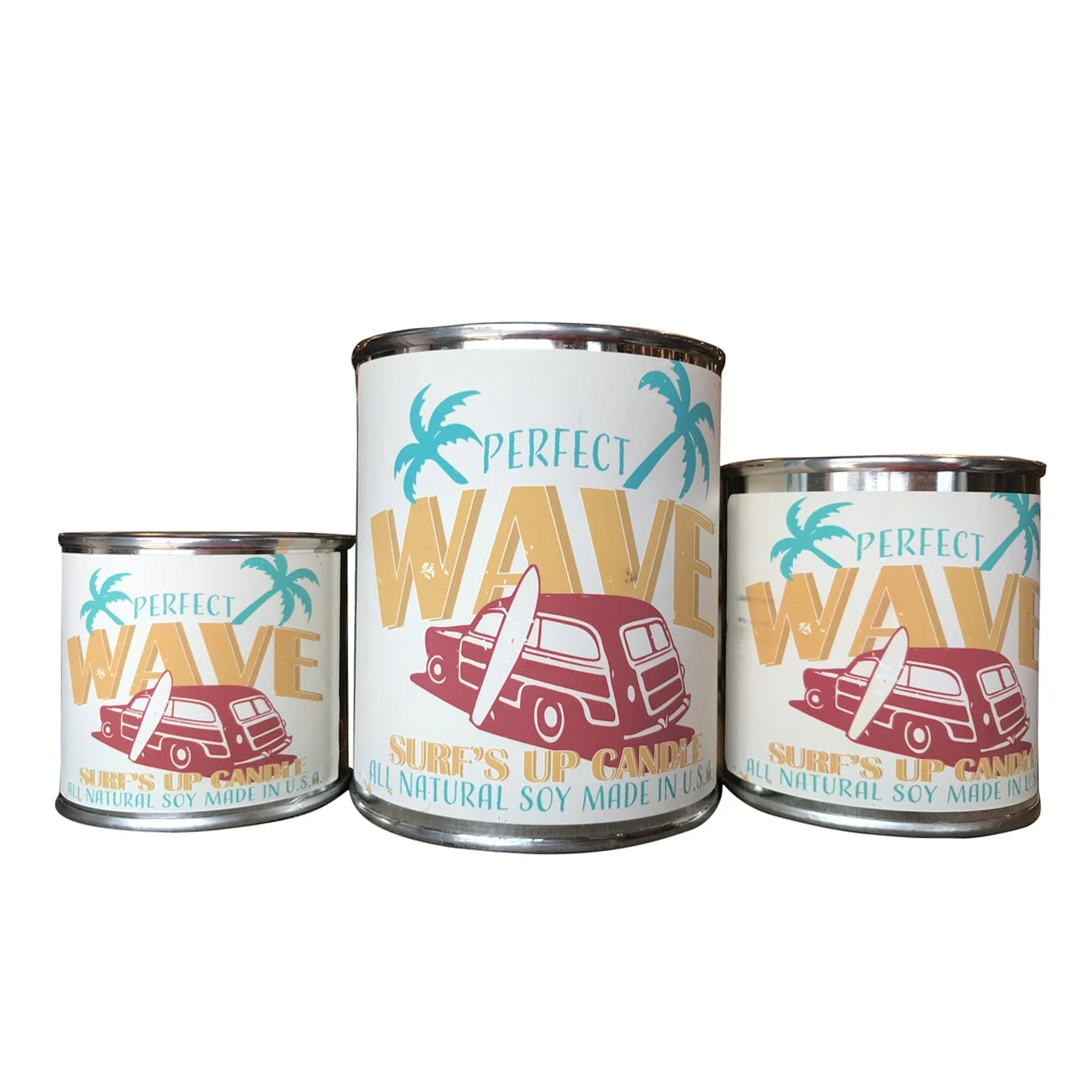 Surf's Up Paint Can Soy Candle - Perfect Wave