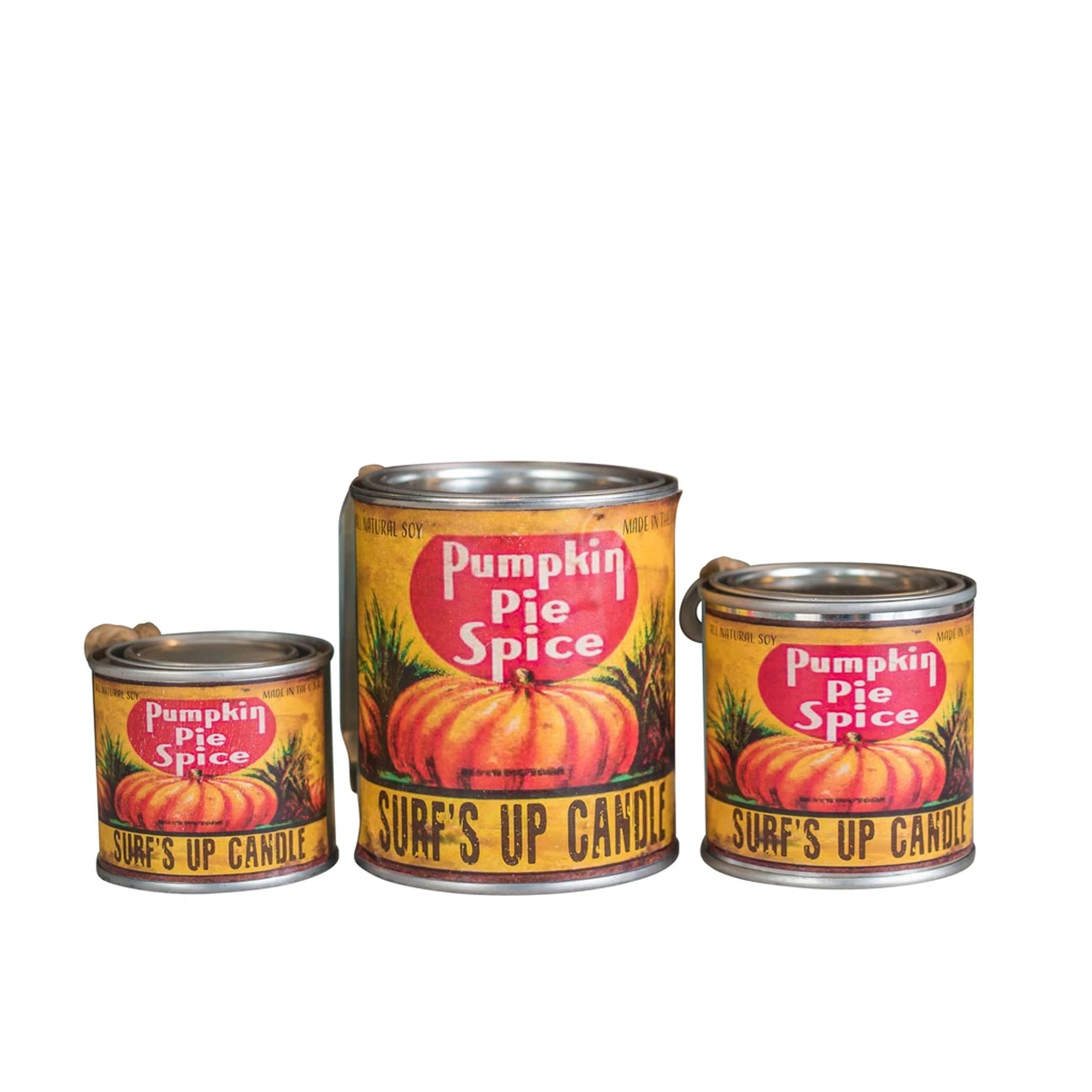 Surf's Up Seasonal Paint Can Soy Candle - Pumpkin Spice