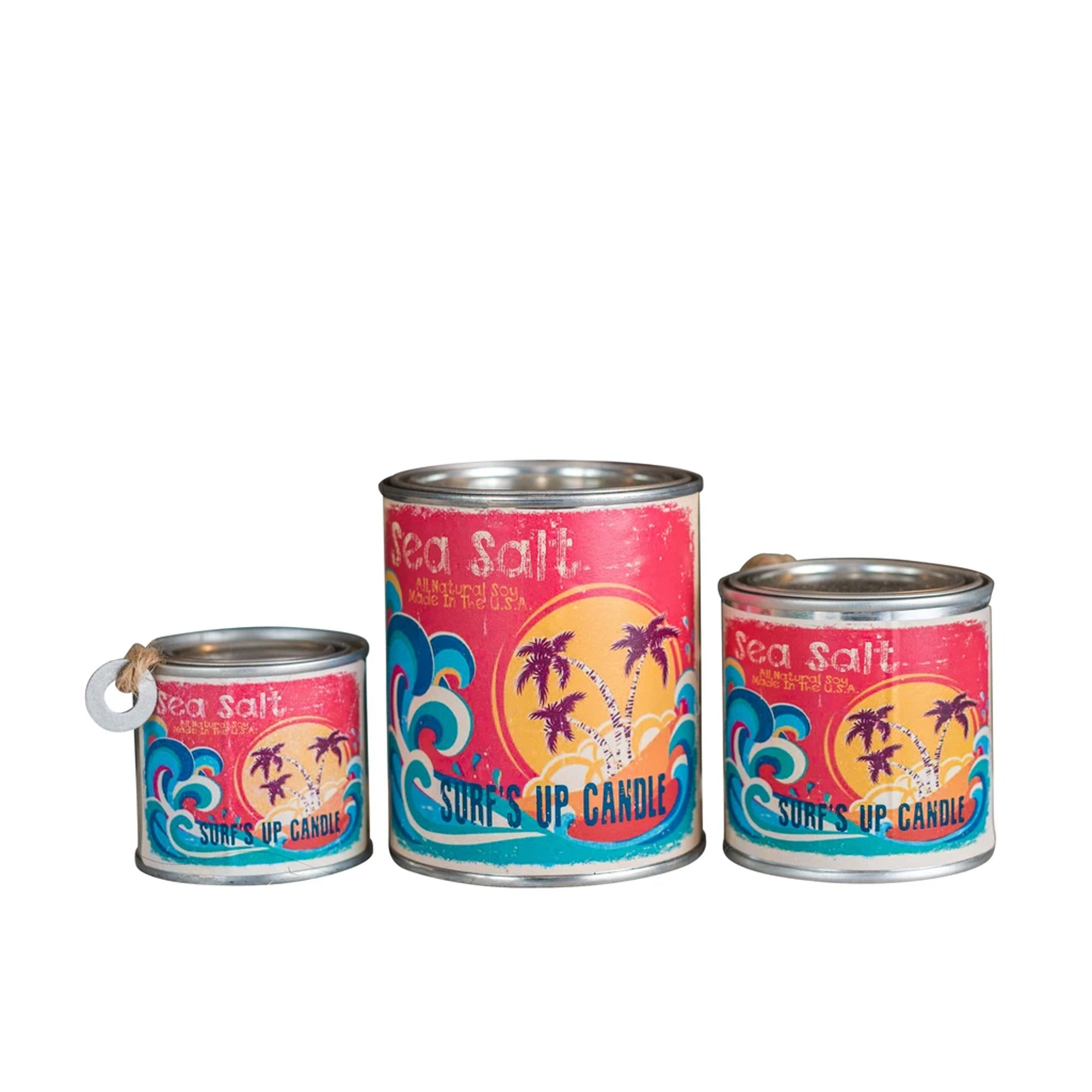 Surf's Up Paint Can Soy Candle - Sea Salt