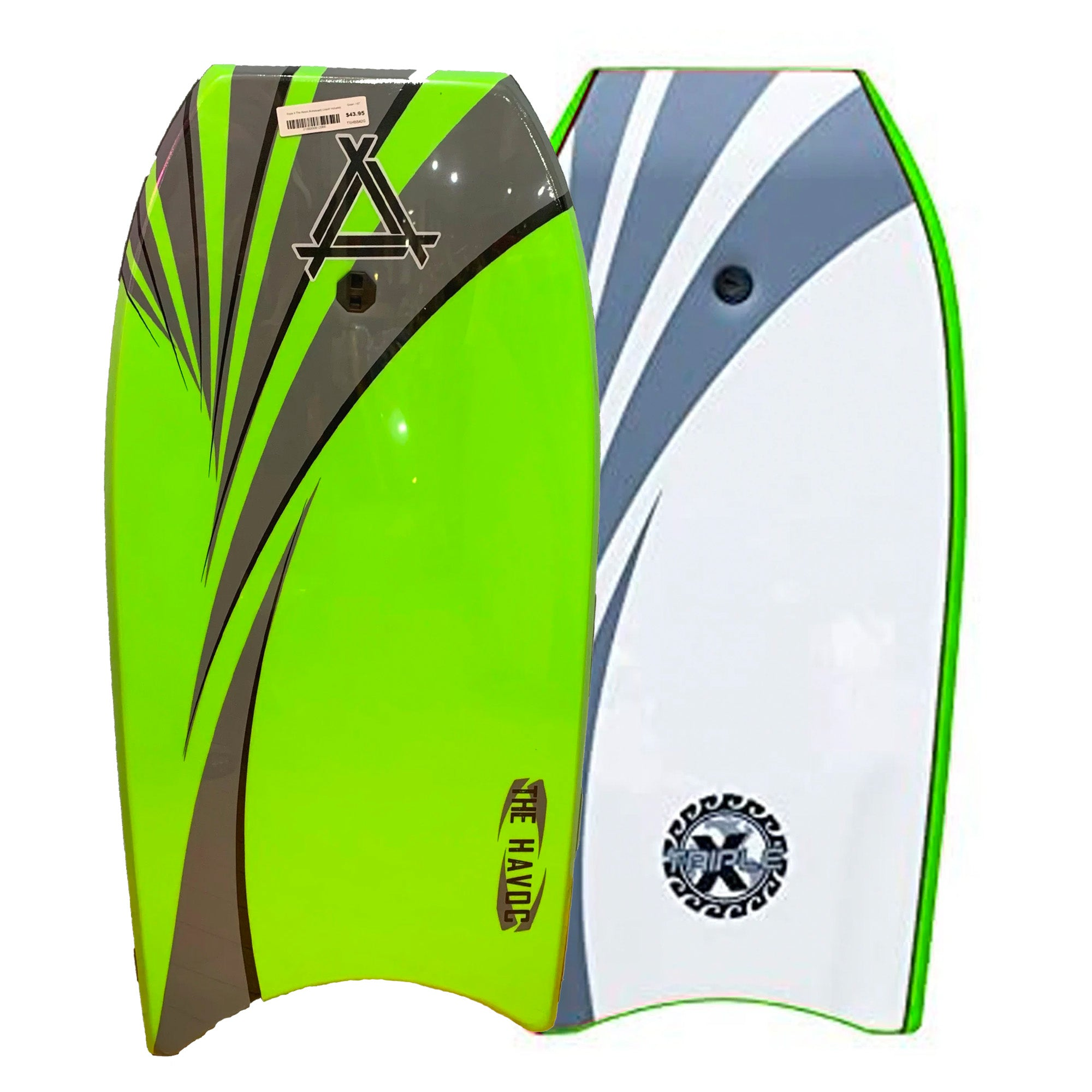 "Triple X Havoc 40"" Bodyboard - Green"