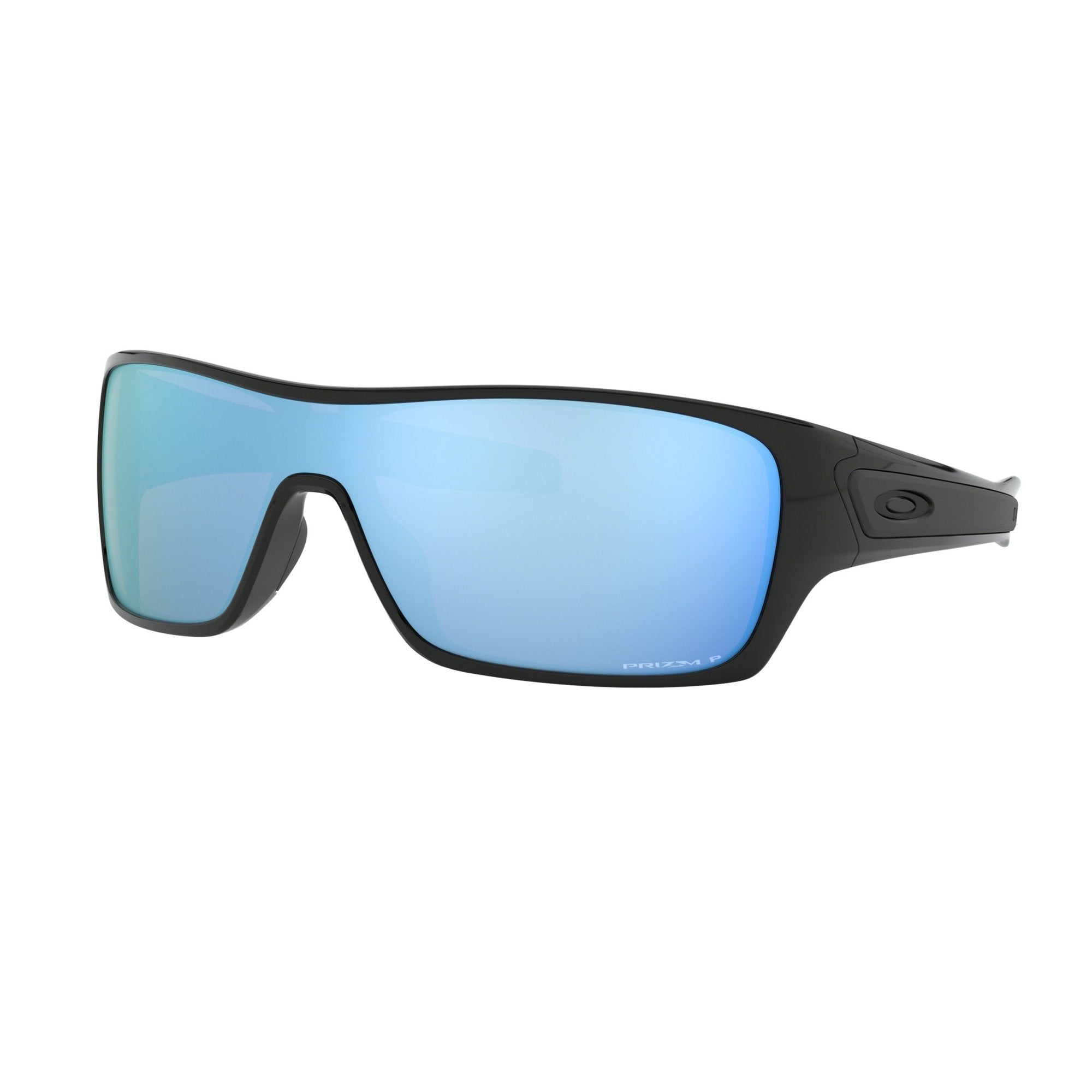 Oakley Turbine Rotor Men's Sunglasses - Polarized - Polished Black/Prizm Deep Water