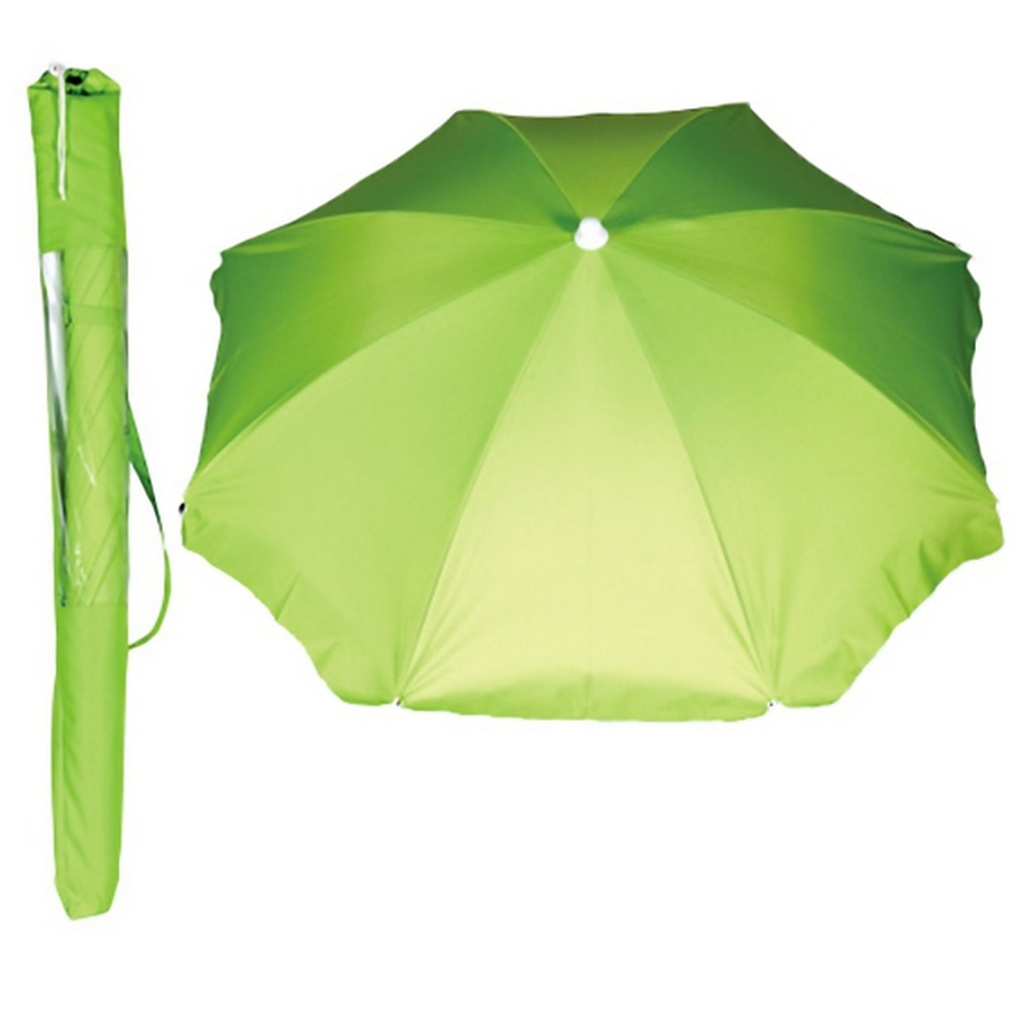 Wet Products Beach Umbrella With Tilt and Sling Pack - Green