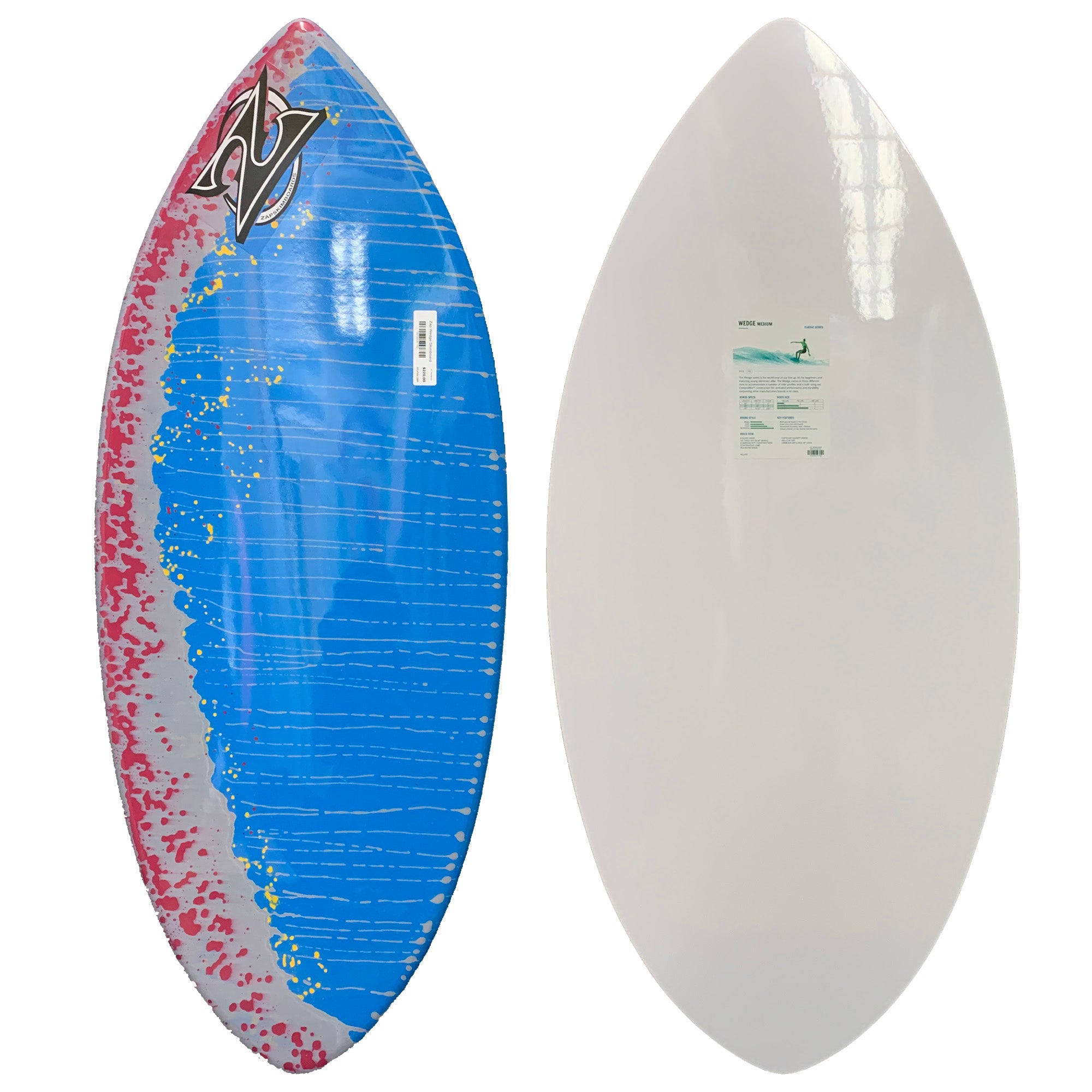 Zap Wedge Skimboard - Blue/Maroon