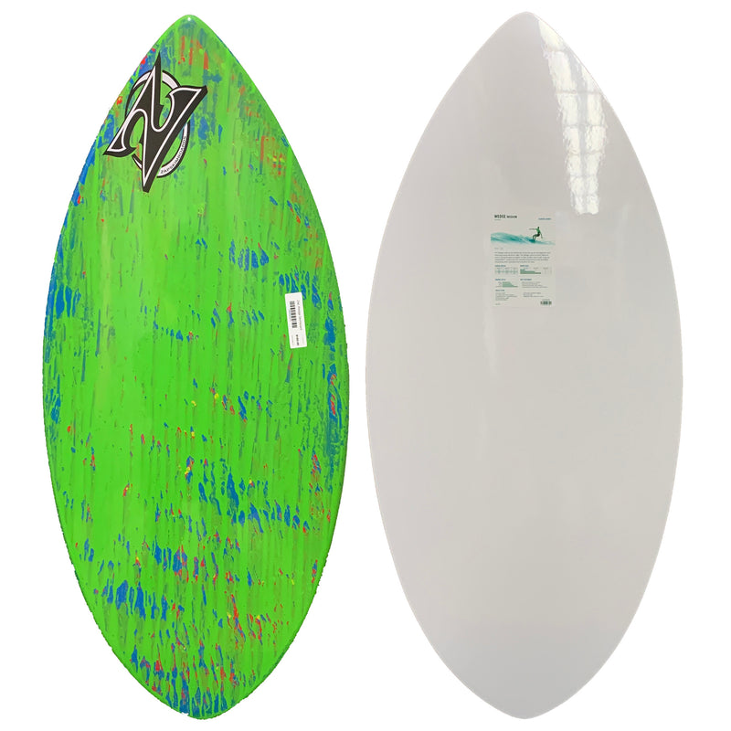 Zap Wedge Skimboard - Green/Blue Splatter