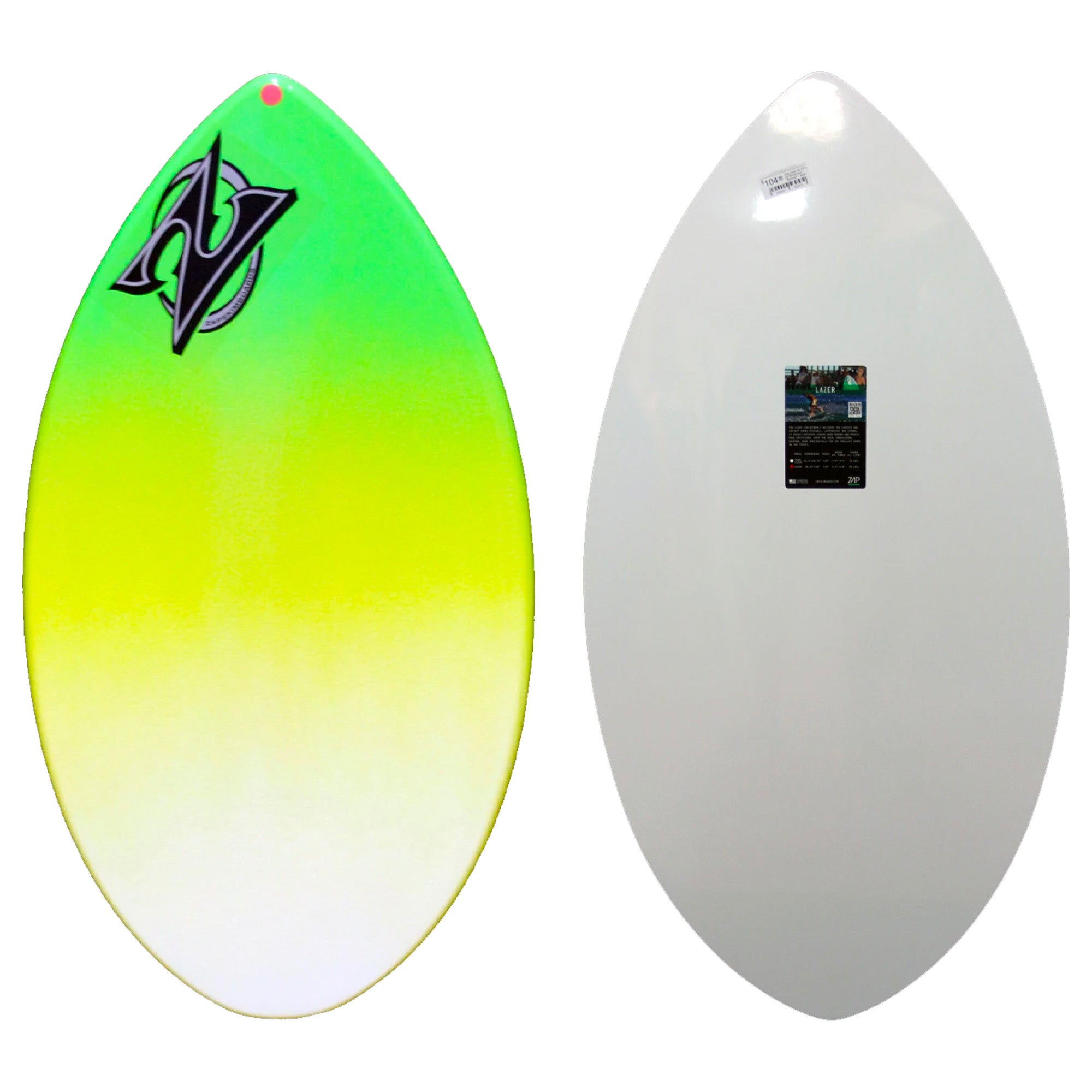 "Zap 35"" Mini Lazer Skimboard - Green/Yellow"