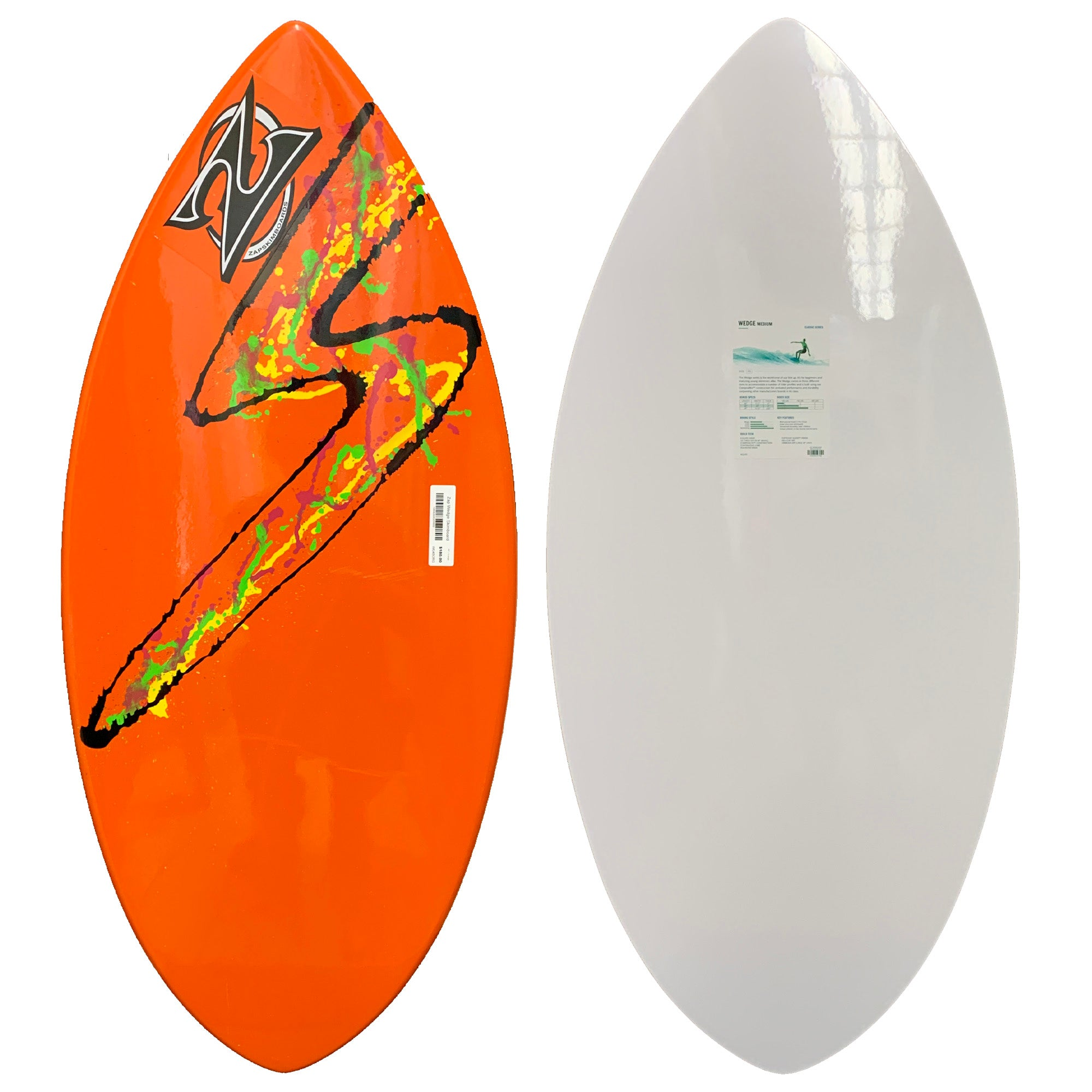 Zap Wedge Skimboard - Orange