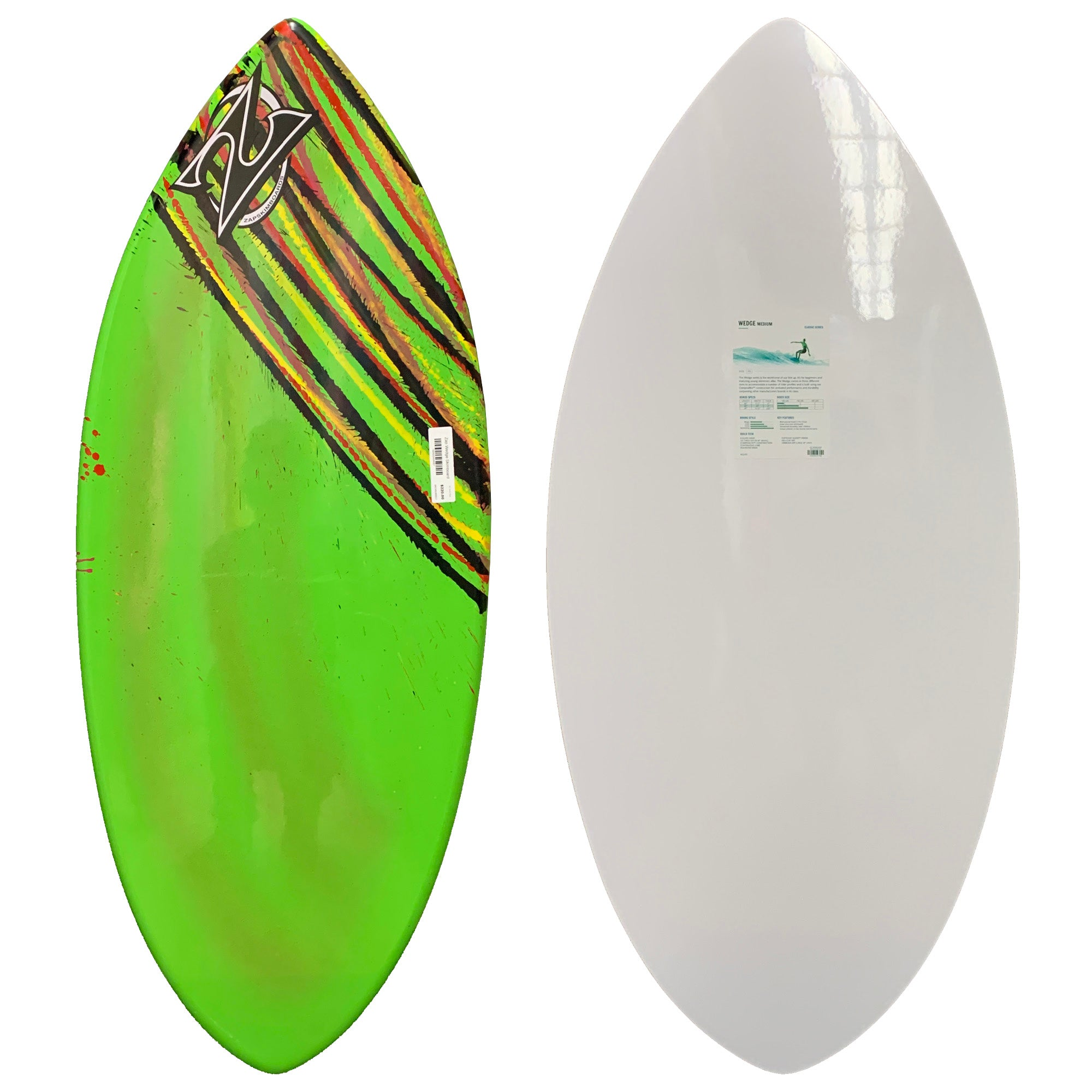 Zap Wedge Skimboard - Green Rasta