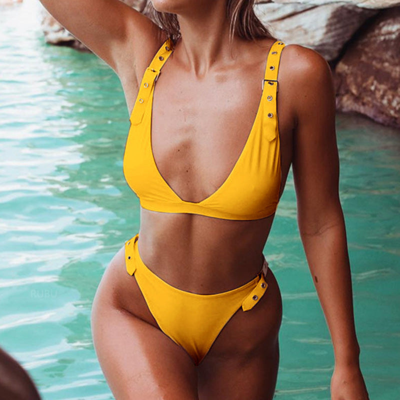 Stacey Two Piece Bikini Yellow