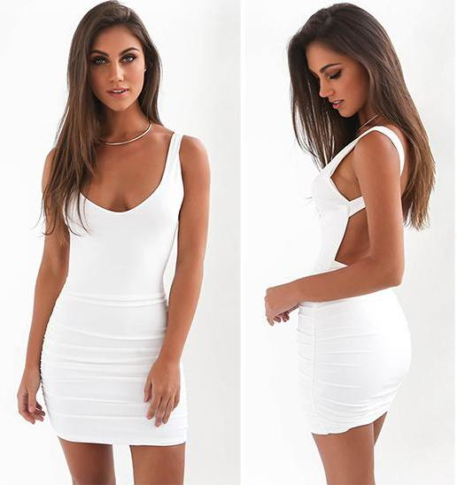 Pearl Backless Dress