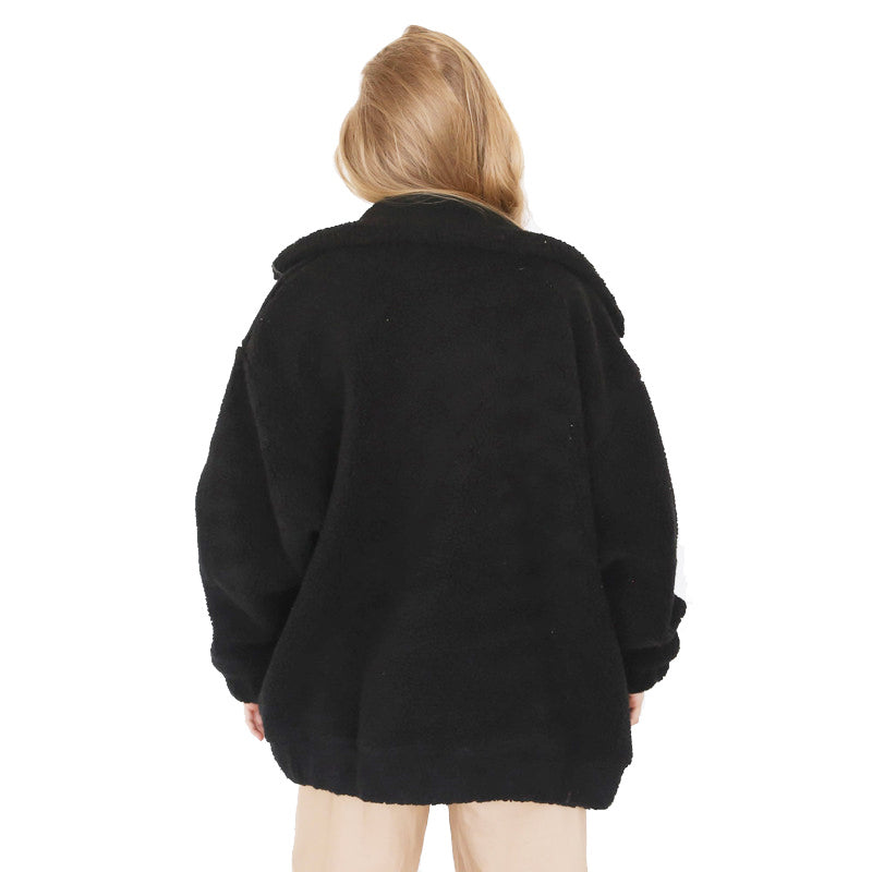 Plush Coat Women's Black