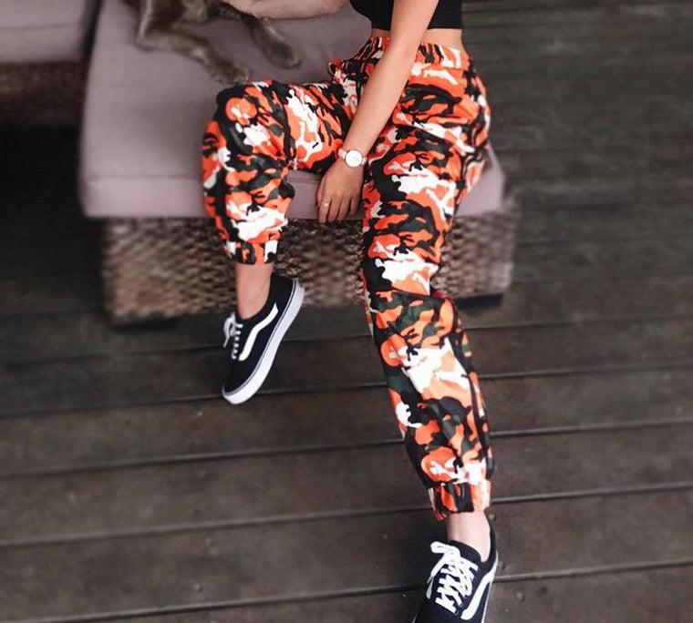 Camo Pants Striped/Orange