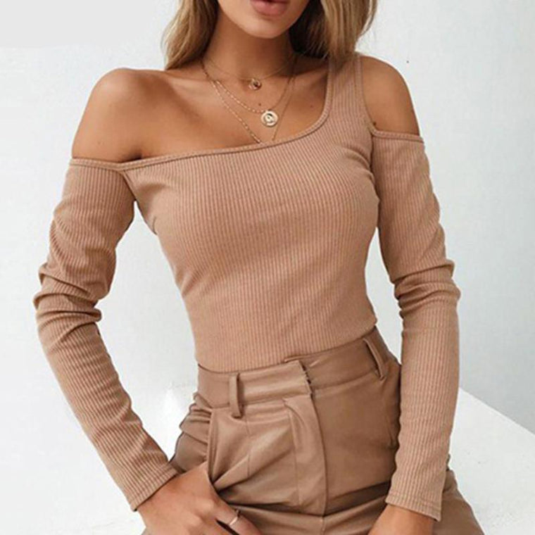 Paragon Long Sleeve Top Beige