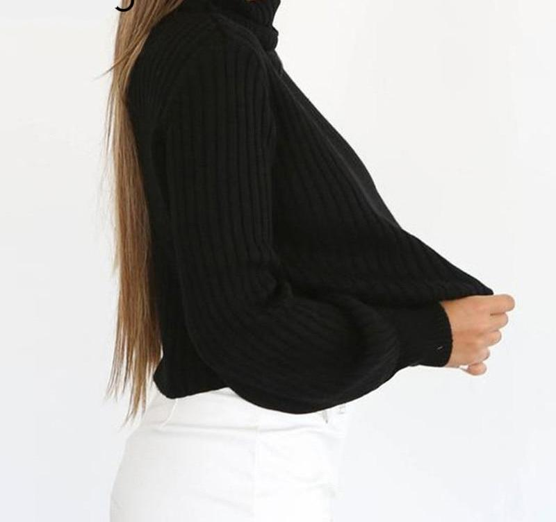 Echo Turtleneck Sweater Black