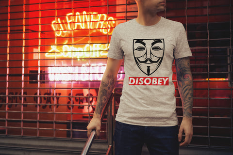 anonymous disobey vendetta mask t shirt tshirt tee