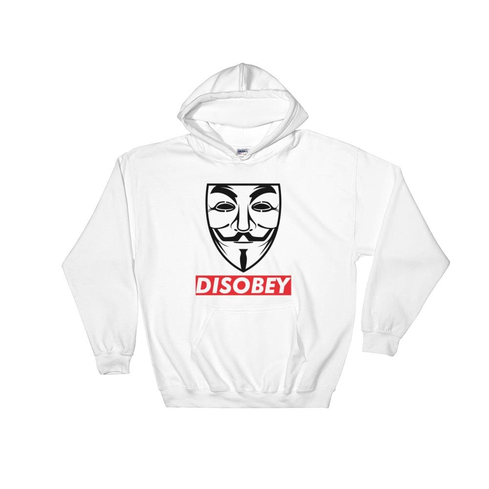 Anonymous Disobey Hoodie - White / S - Hoodie $34.99 Geekwich