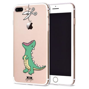 Cartoon Funny Geeky Iphone Cases Cover - Dino / For Iphone 6 Plus - Case Cover $9.99 Geekwich
