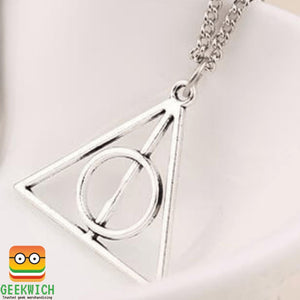 Hp Deathly Hallows Pendant Jewelry - Silver - Gadget $4.99 Geekwich
