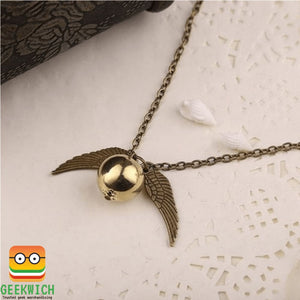 Hp Golden Snitch Necklace Jewelry - Bronze - Gadget $4.99 Geekwich