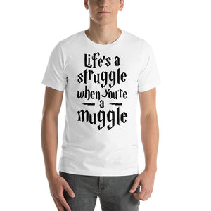 Life As A Muggle - White / S - T-Shirt $24.99 Geekwich